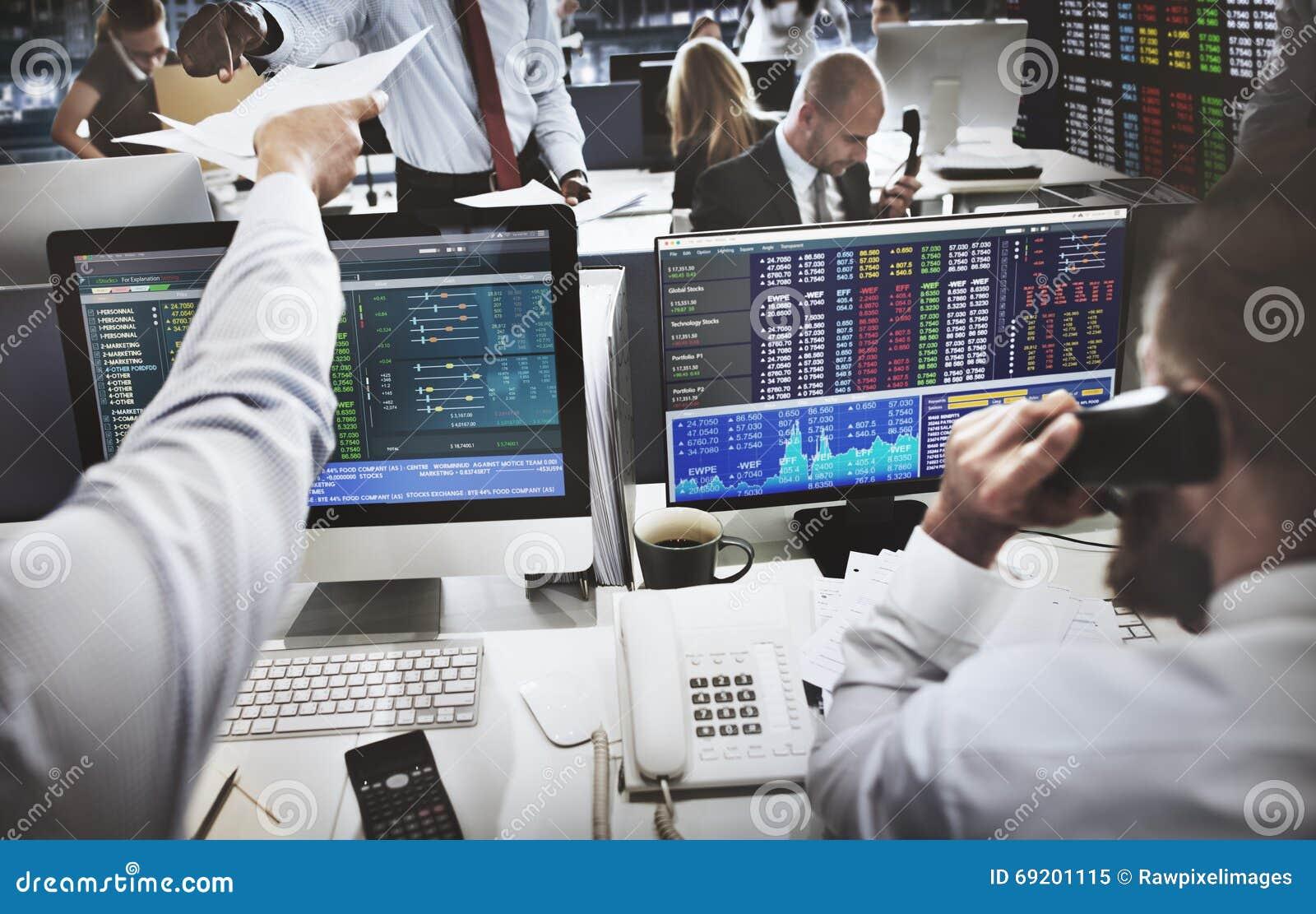 Negócio Team Investment Entrepreneur Trading Concept