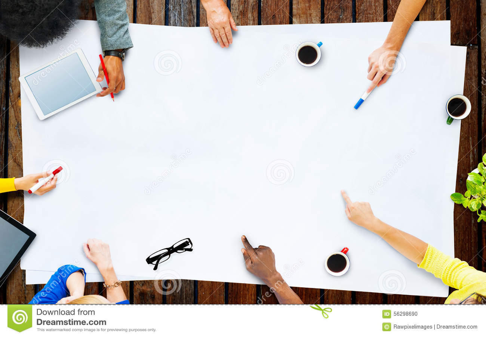 Negócio Team Planning Project Meeting Concept
