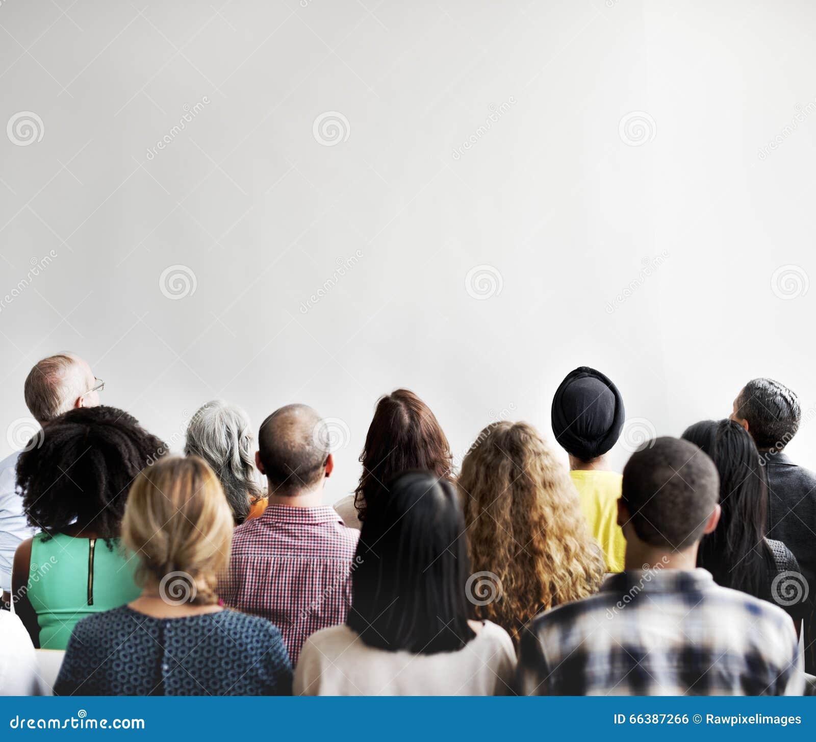 Negócio Team Seminar Conference Audience Concept