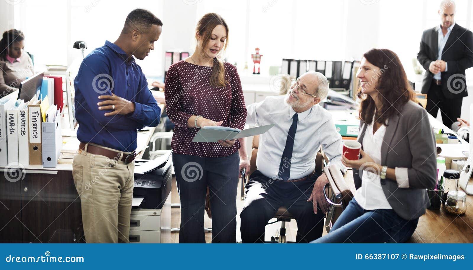 Negócio Team Working Office Worker Concept