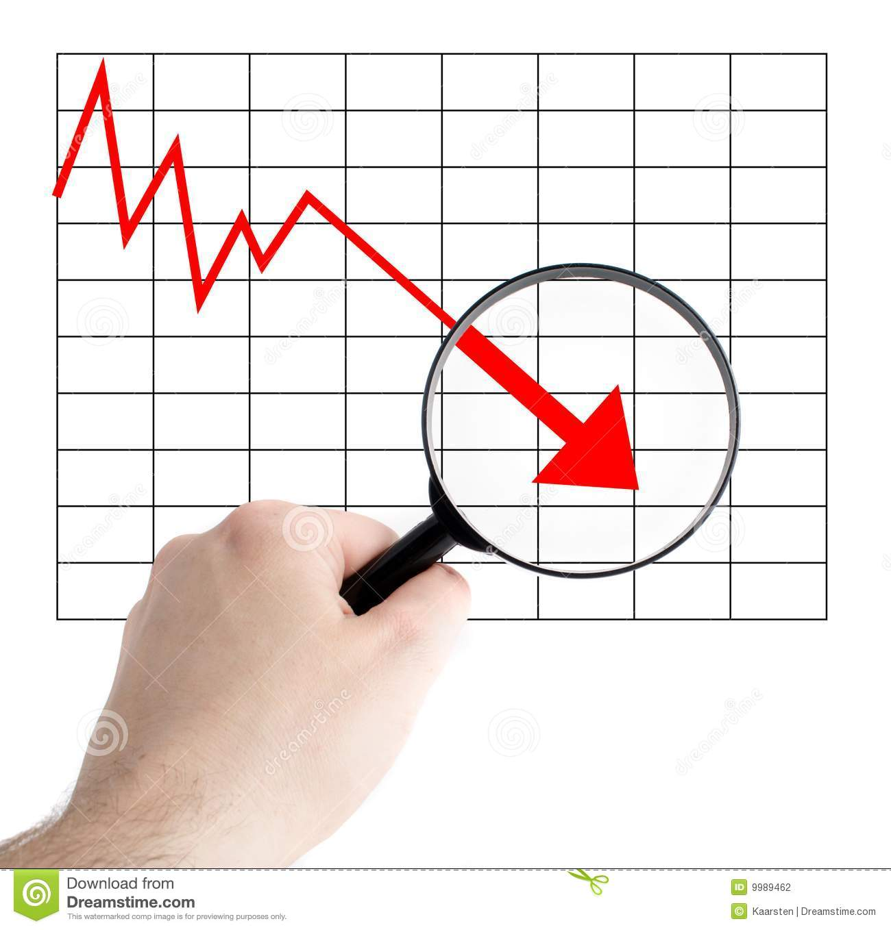 Negative chart stock photo. Image of budget, bust ... Z Table Chart Negative