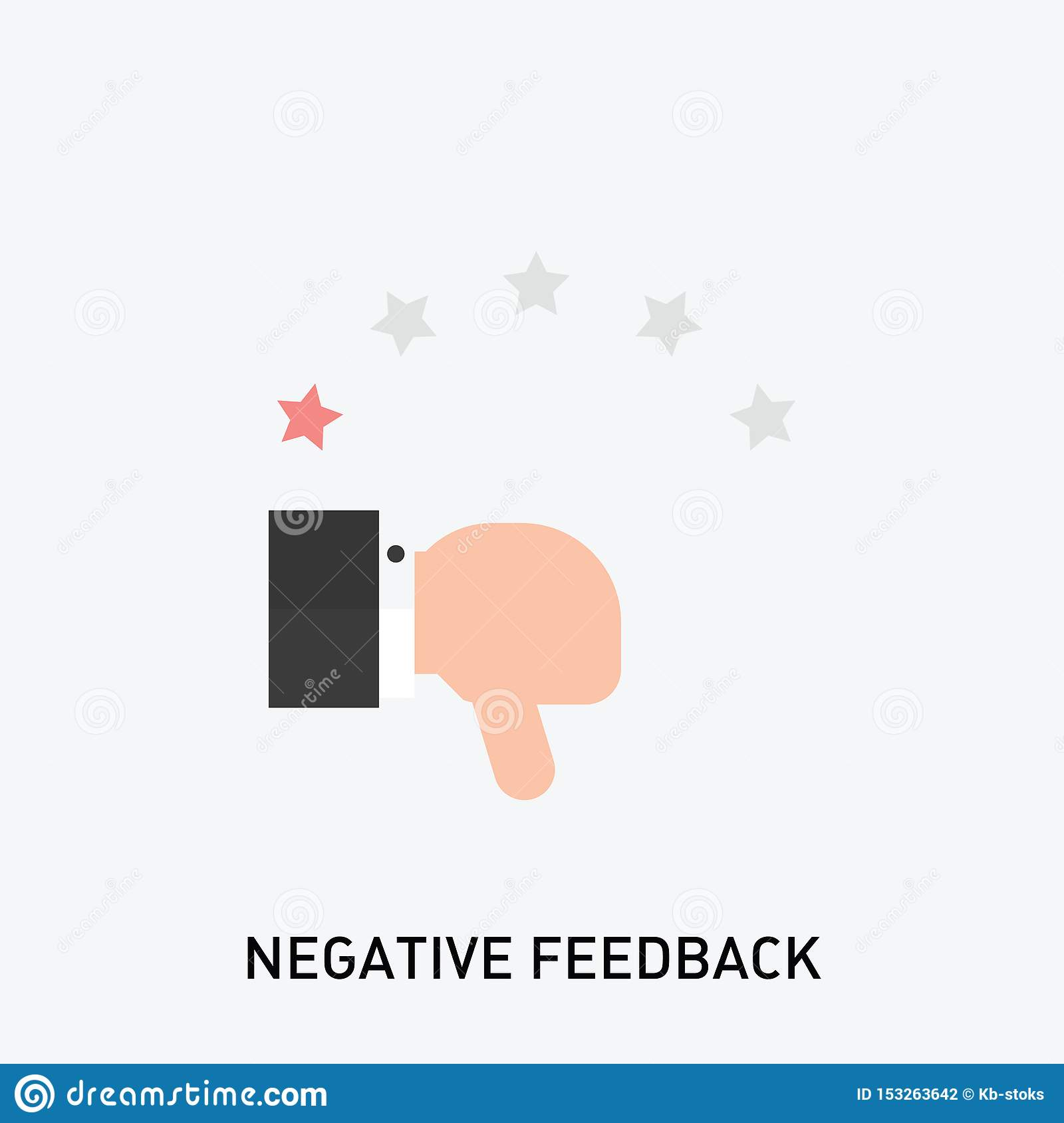 Negative feedback icon. Bad review rating icon.