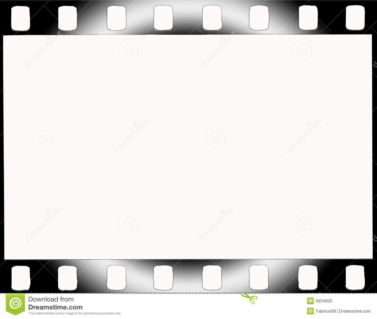 35mm Film Strip Frame Cut Out Stock Photo, Royalty Free Image ...