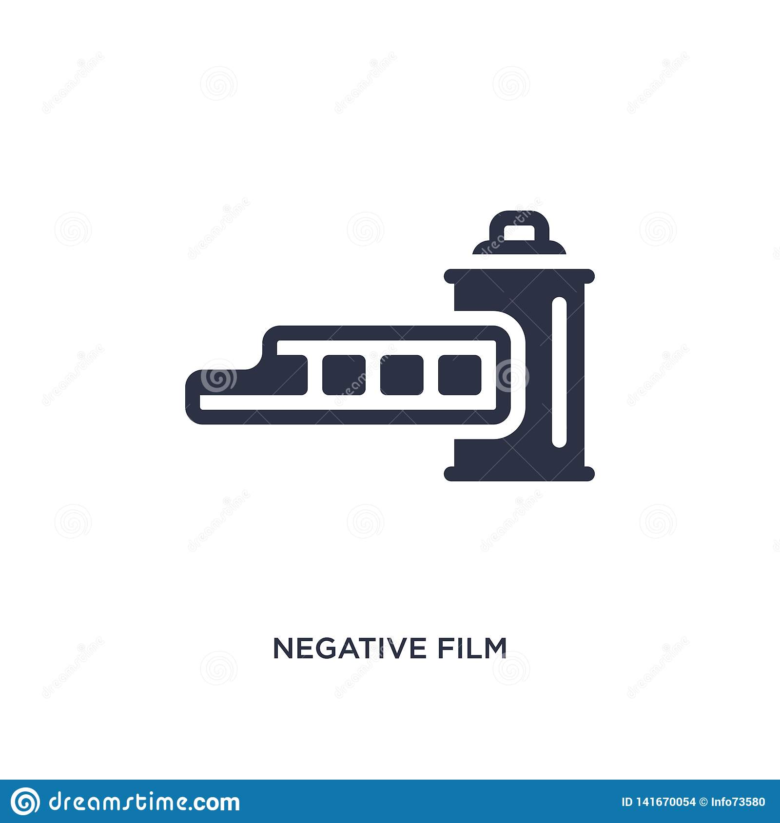 negative film icon on white background. Simple element illustration from cinema concept