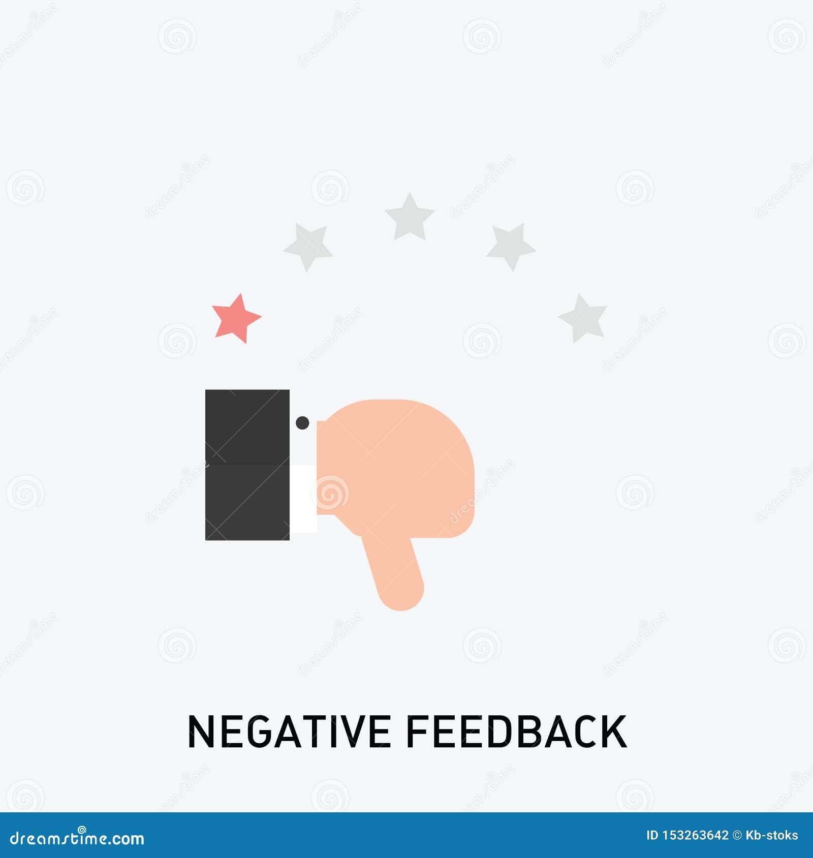 Negatywnej informacje zwrotne ikona Zła przeglądowa ratingowa ikona