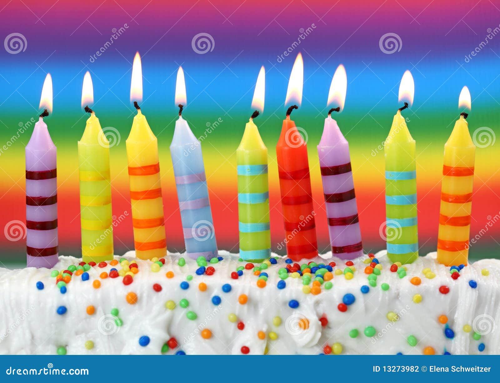 Negen verjaardagskaarsen