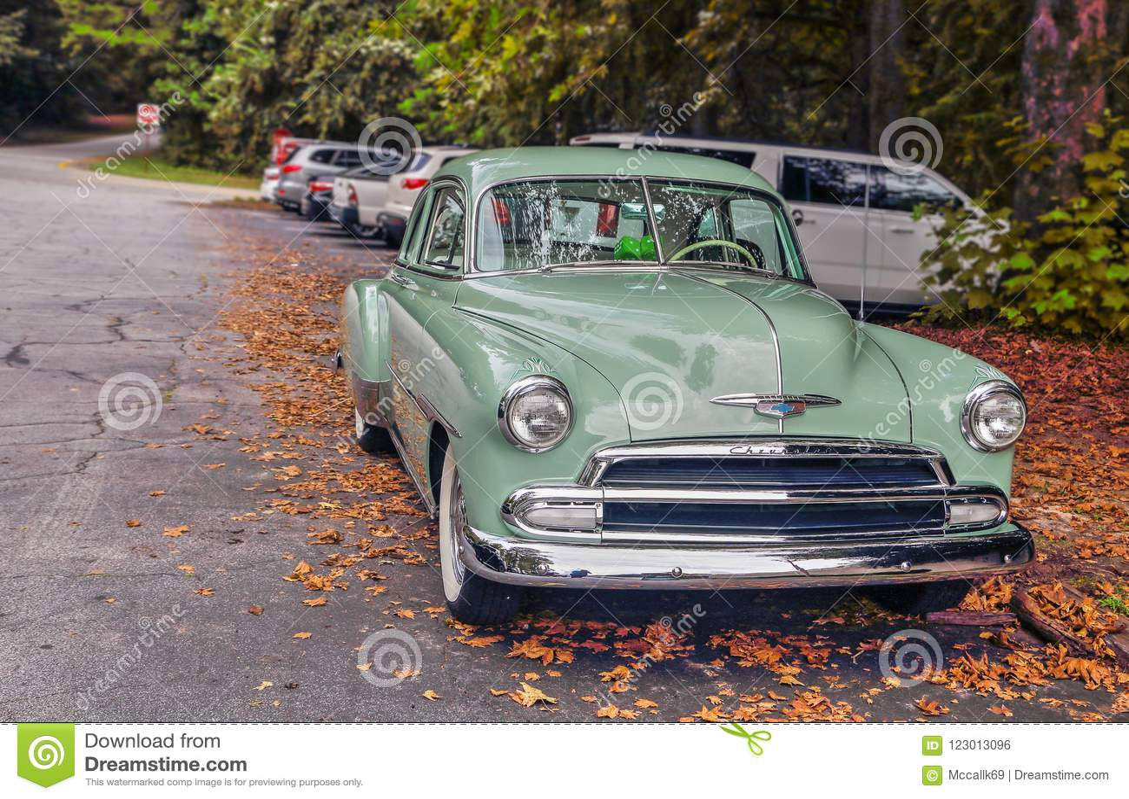 Negentienhonderdvijftig Chevy Deluxe Mint Green