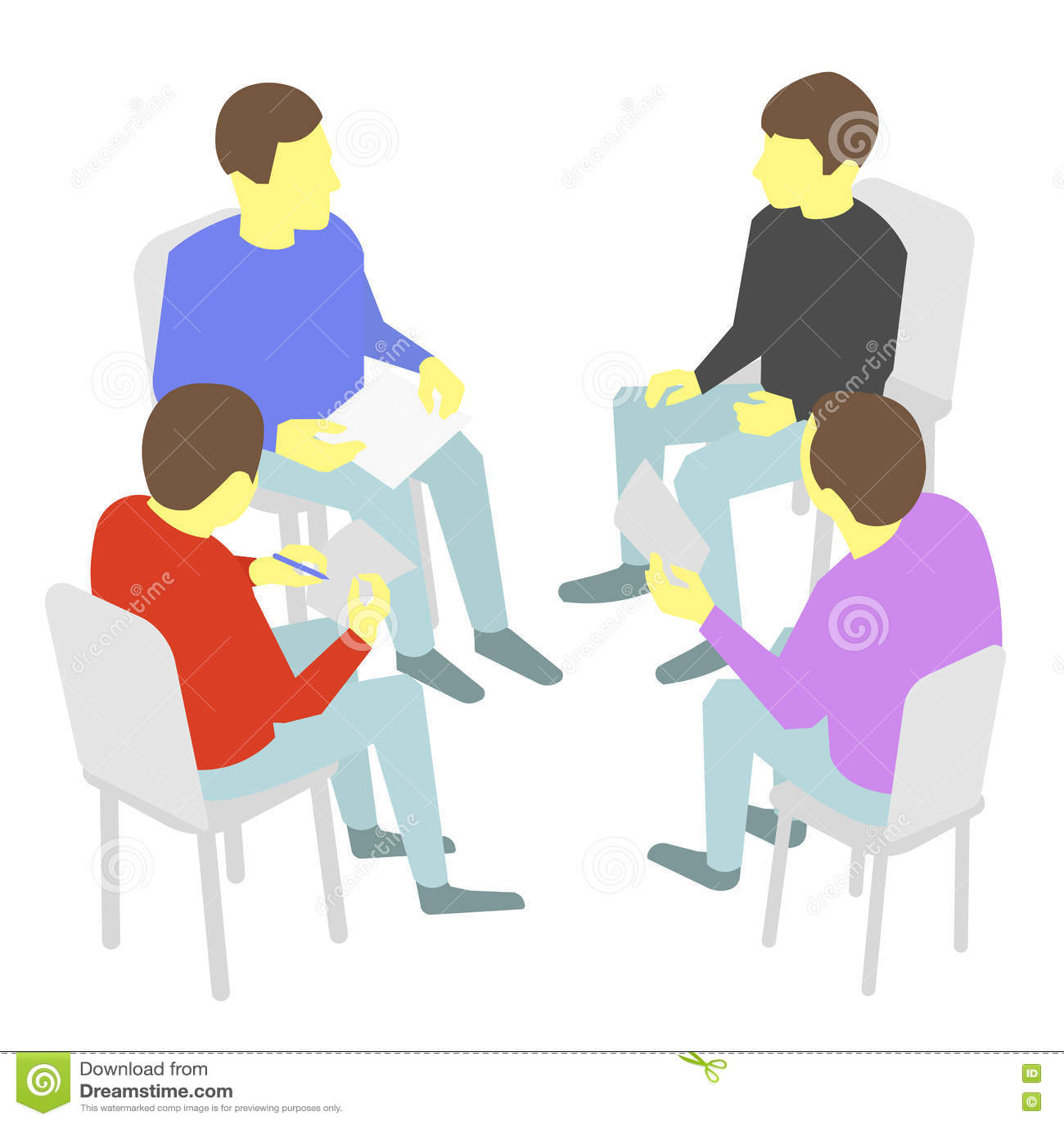 Negociaciones grupo de negocio conferencia de la reuni n for Hotel para cuatro personas