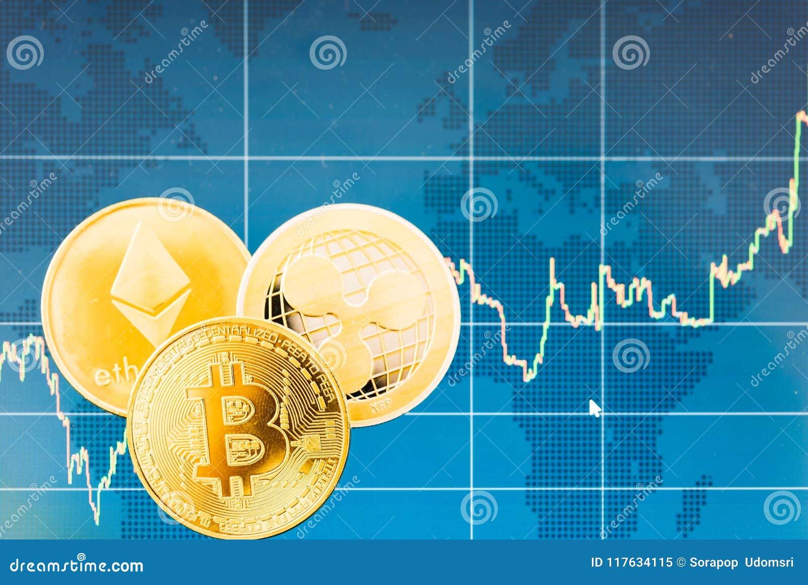 Negocio Bitcoin, ondulación XRP y finanzas de la moneda de las monedas de Ethereum