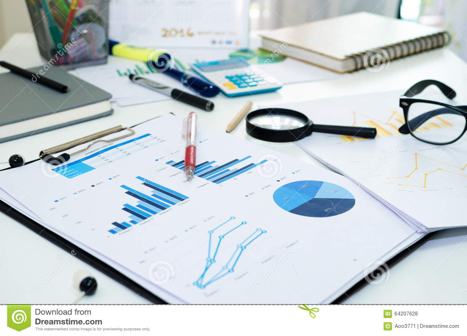 Negocio del gráfico de las estadísticas