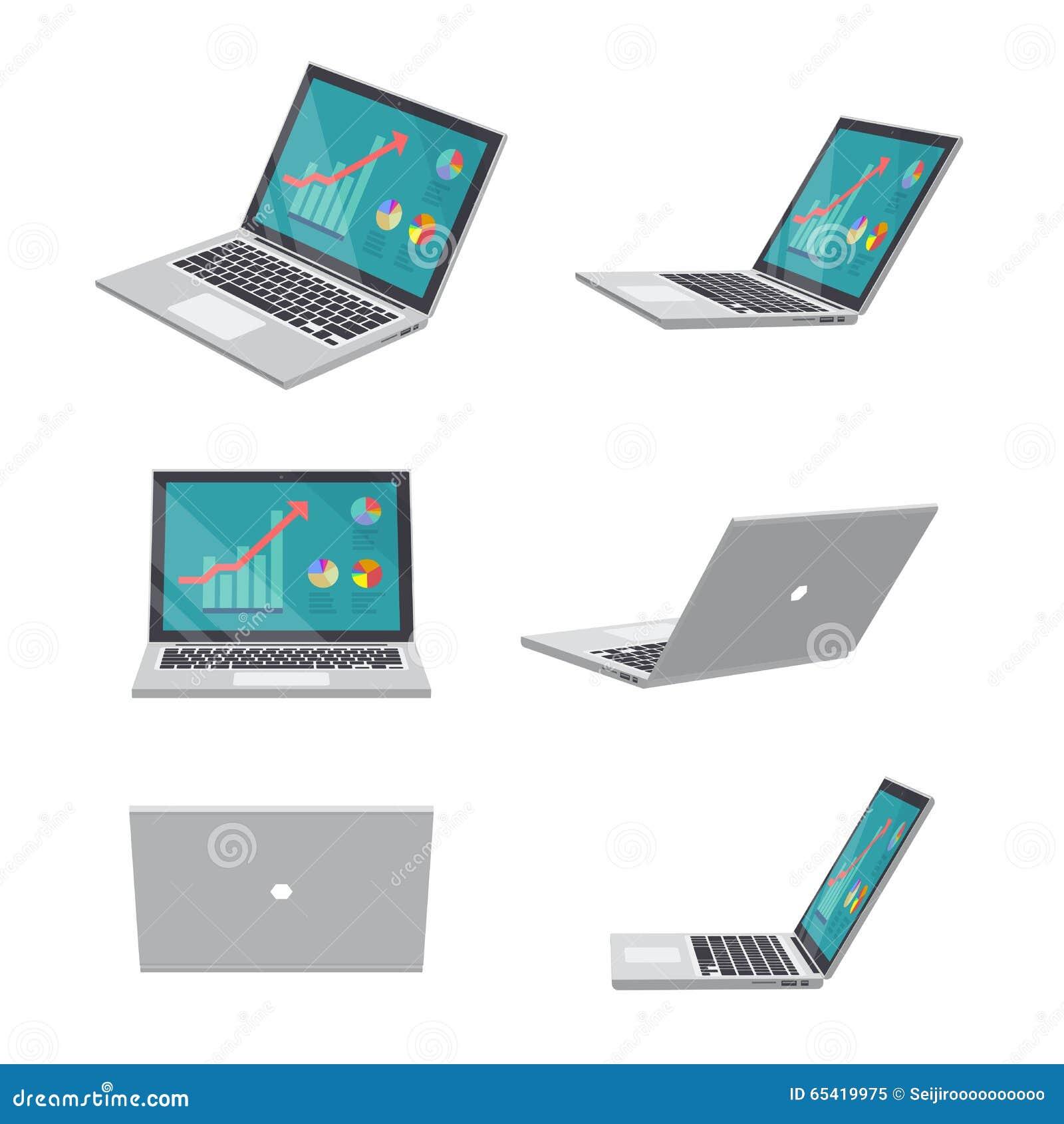 Negocio del ordenador portátil 3D