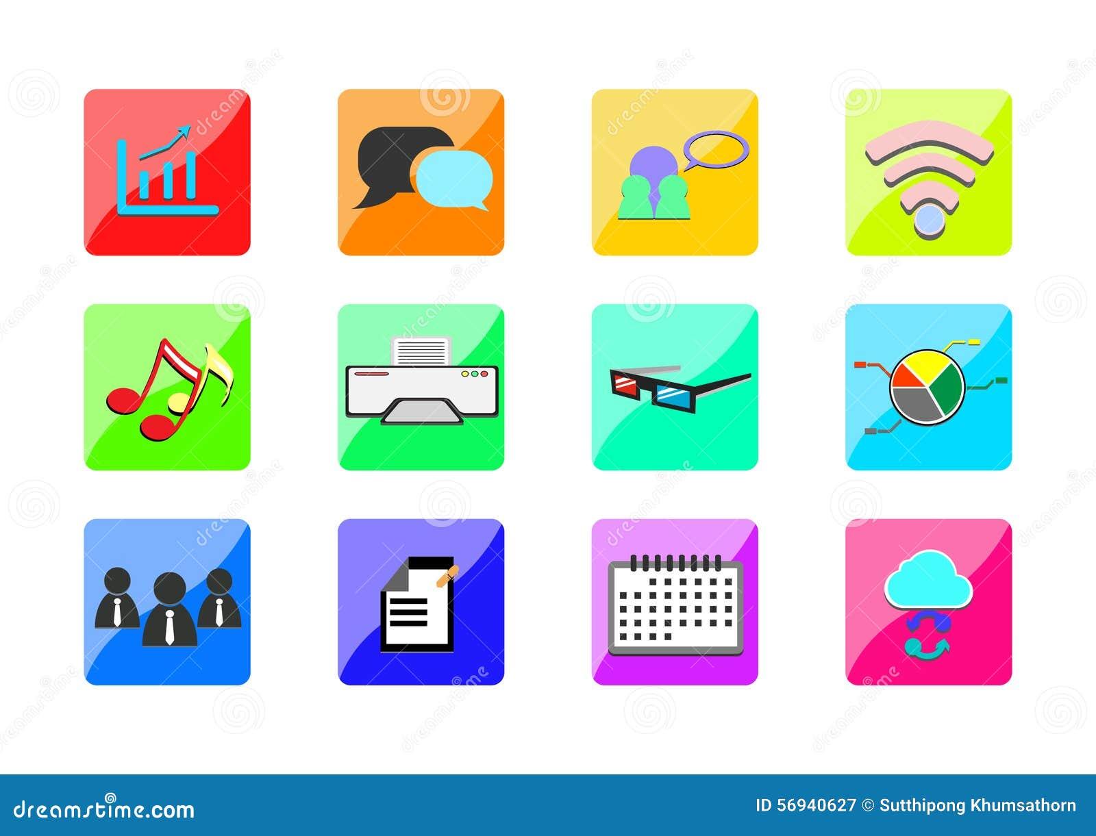 Negocio del web de los iconos