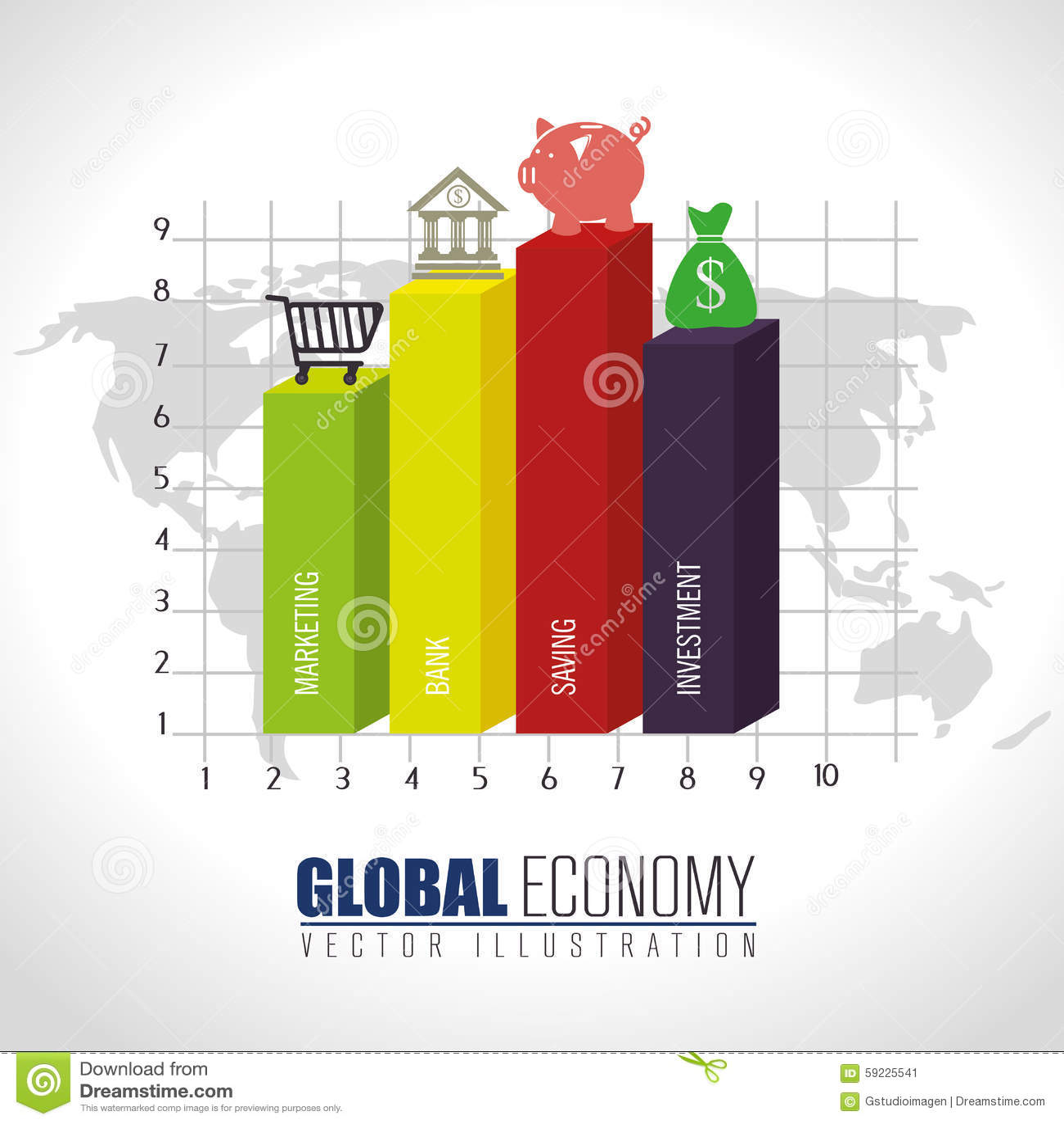 Download Negocio, Dinero Y Economía Global Ilustración del Vector - Ilustración de financiero, finanzas: 59225541