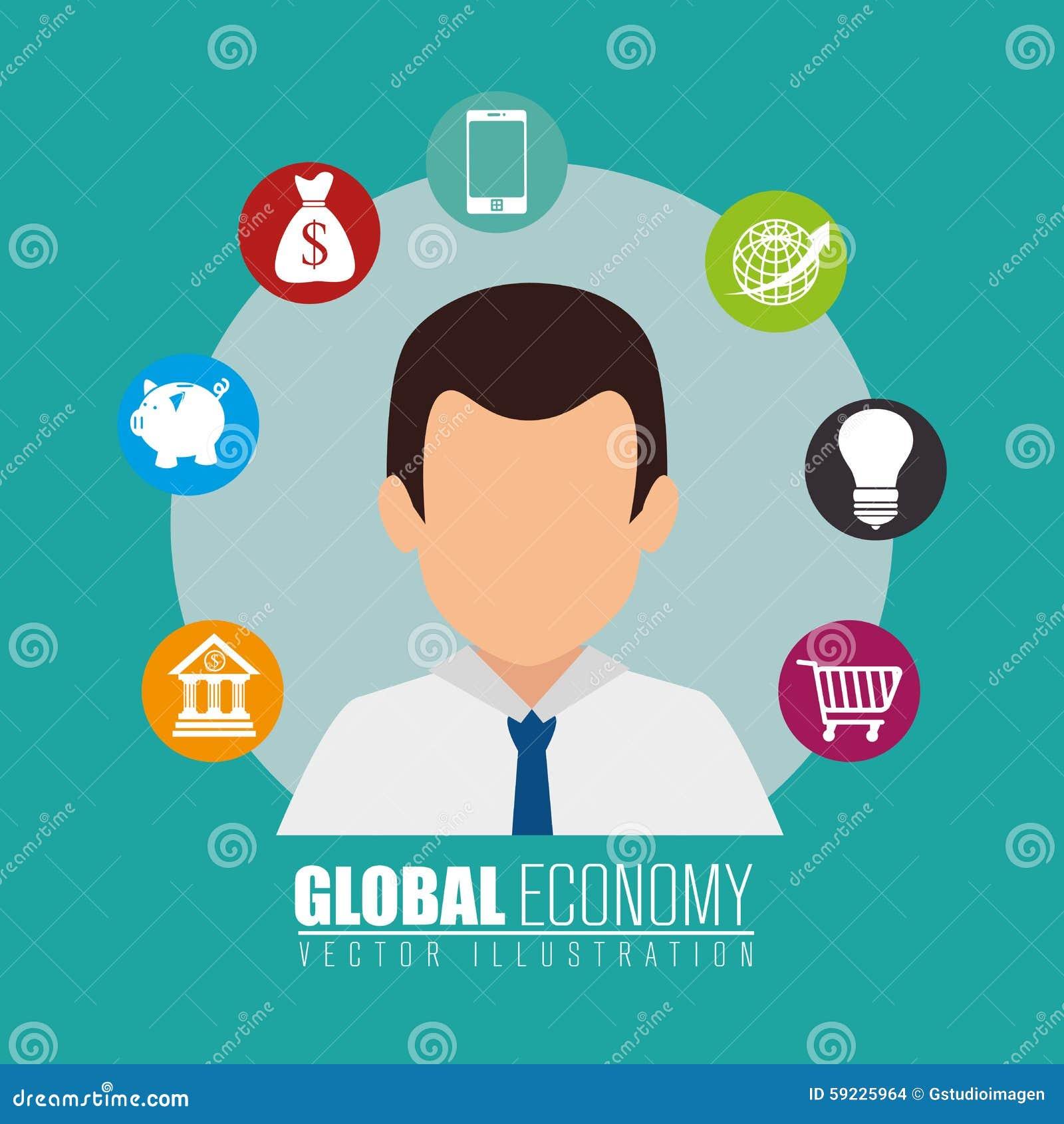 Download Negocio, Dinero Y Economía Global Ilustración del Vector - Ilustración de bulbo, comercio: 59225964