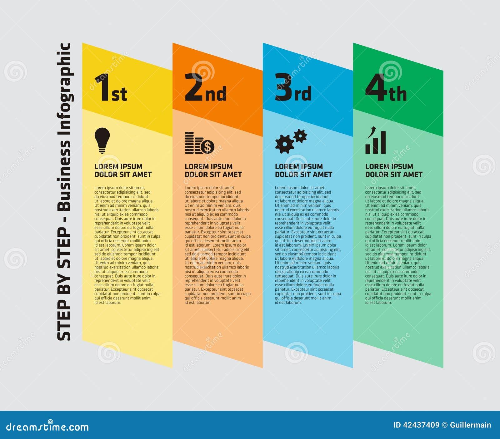 Negocio gradual Infographic