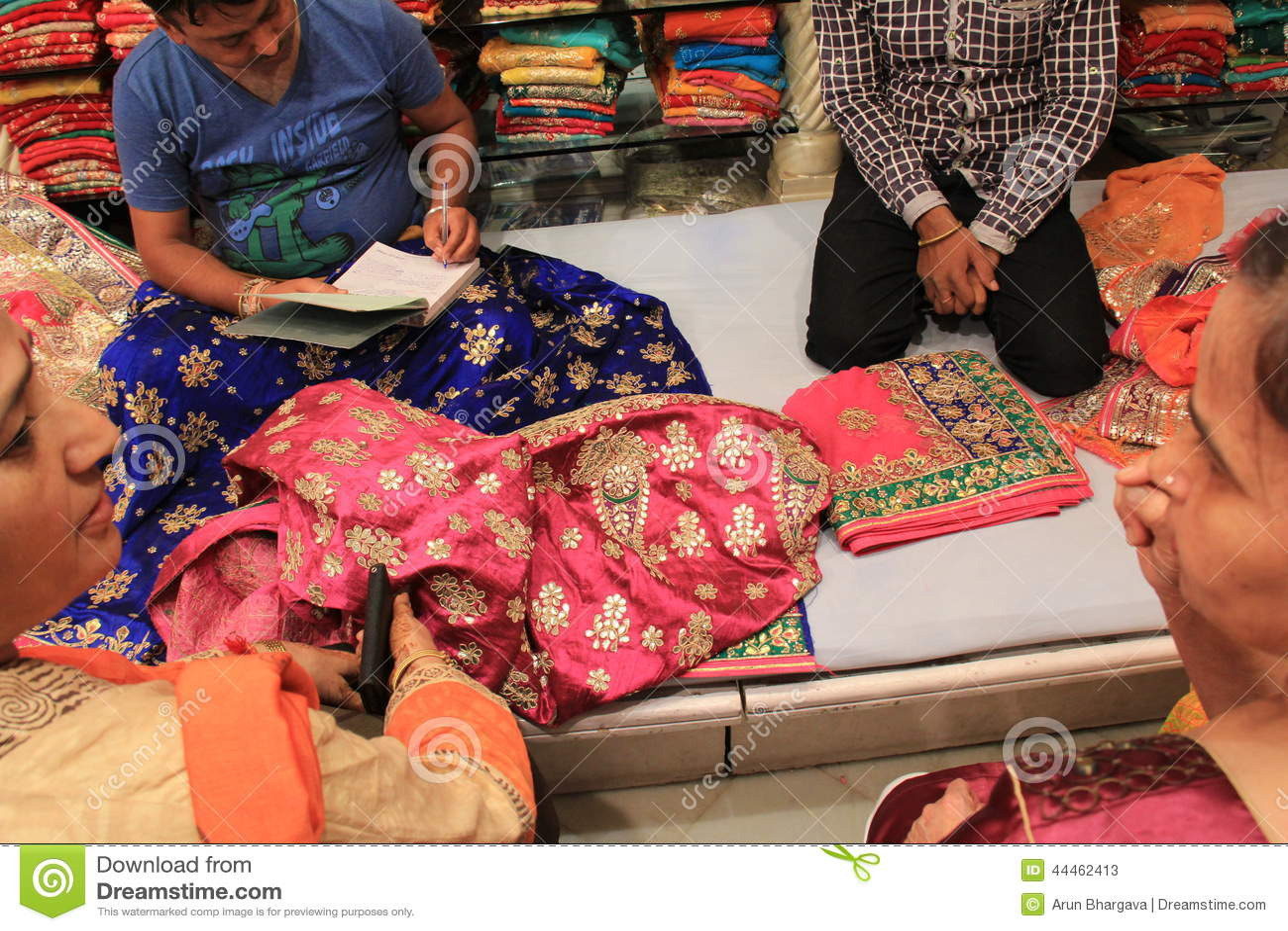 Negocio indio de la tela