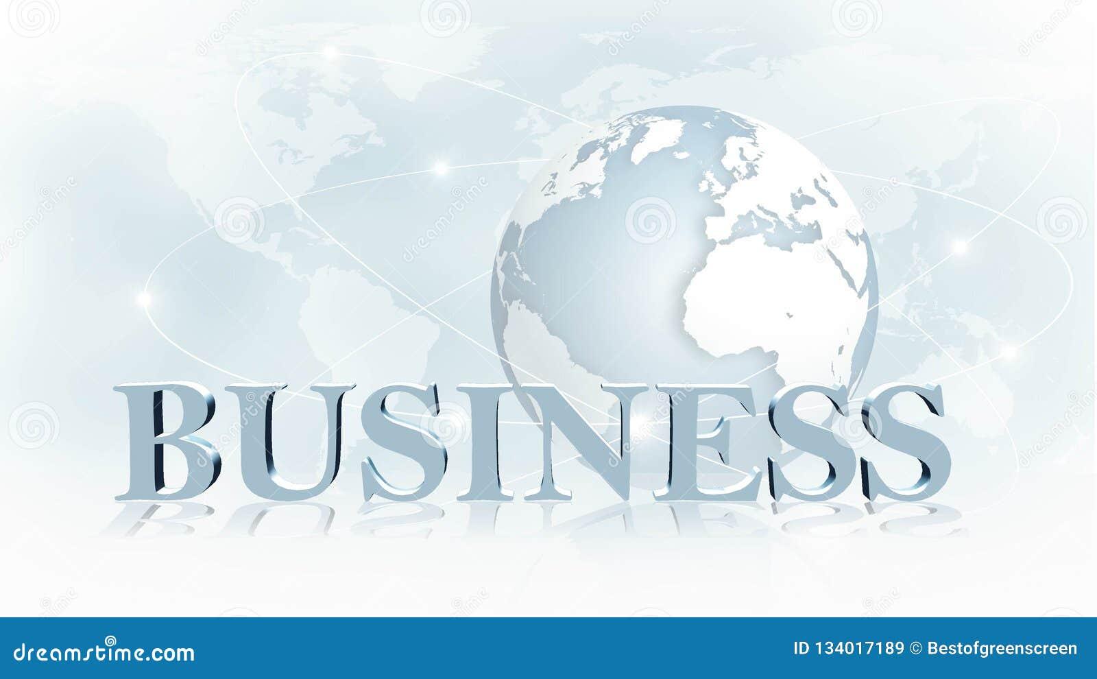 NEGOCIO - letras 3D delante del negocio de la imagen de fondo o del concepto de Internet de red global