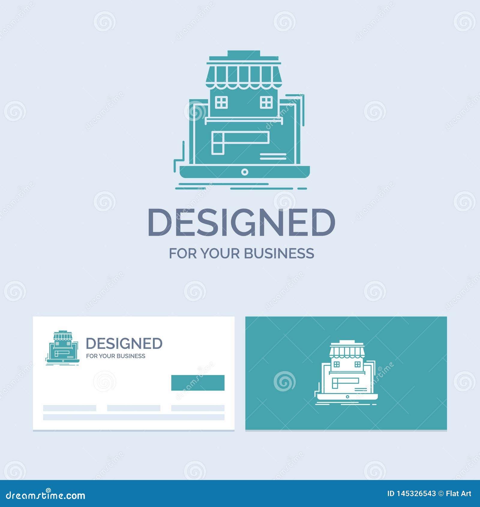 Negocio, mercado, organización, datos, negocio en línea Logo Glyph Icon Symbol del mercado para su negocio Negocio de la turquesa
