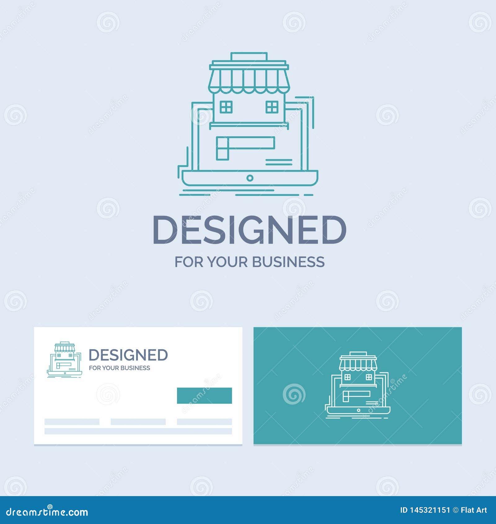 Negocio, mercado, organización, datos, negocio en línea Logo Line Icon Symbol del mercado para su negocio Negocio de la turquesa