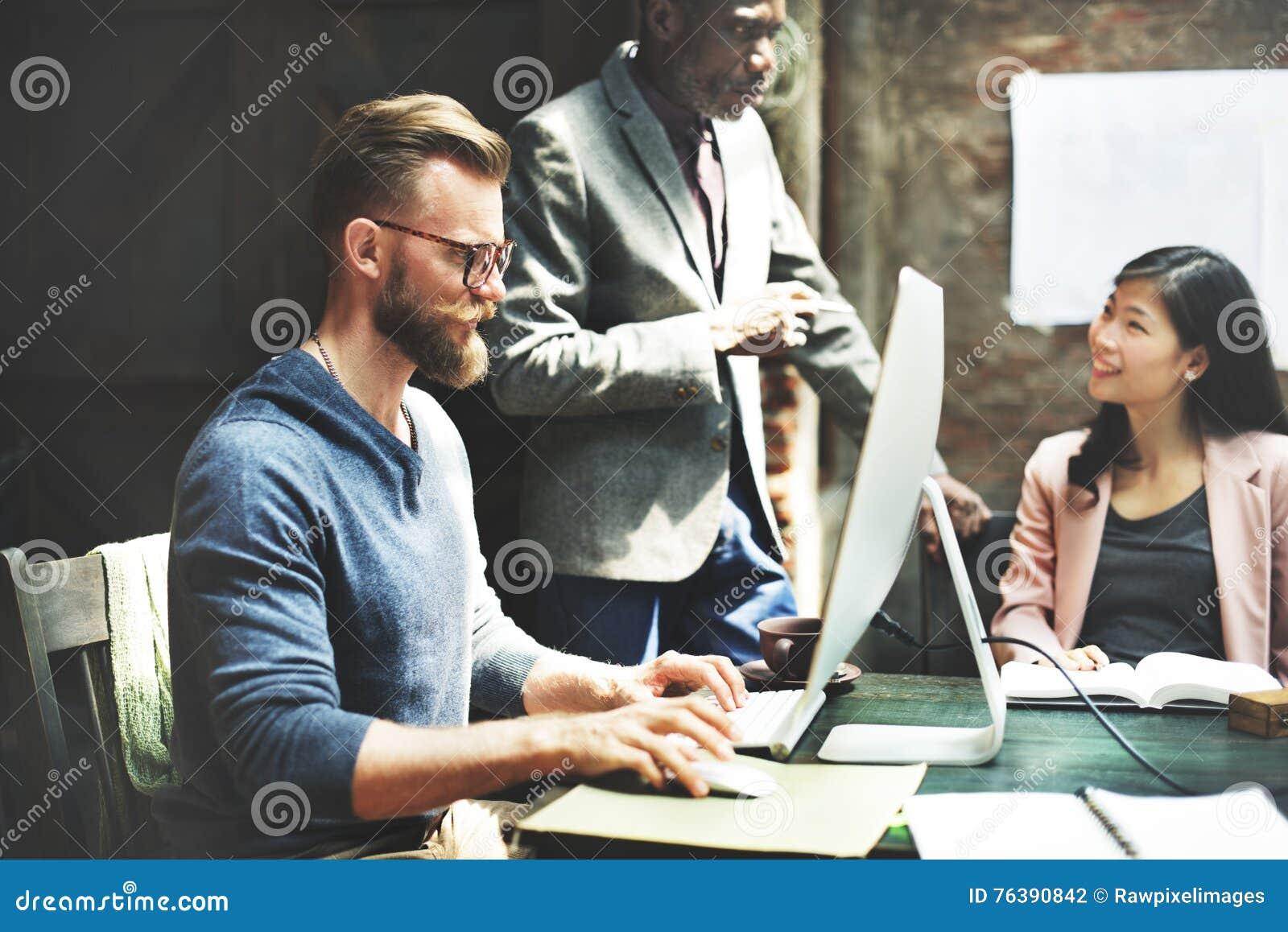 Negocio Team Meeting Brainstorming Working Concept