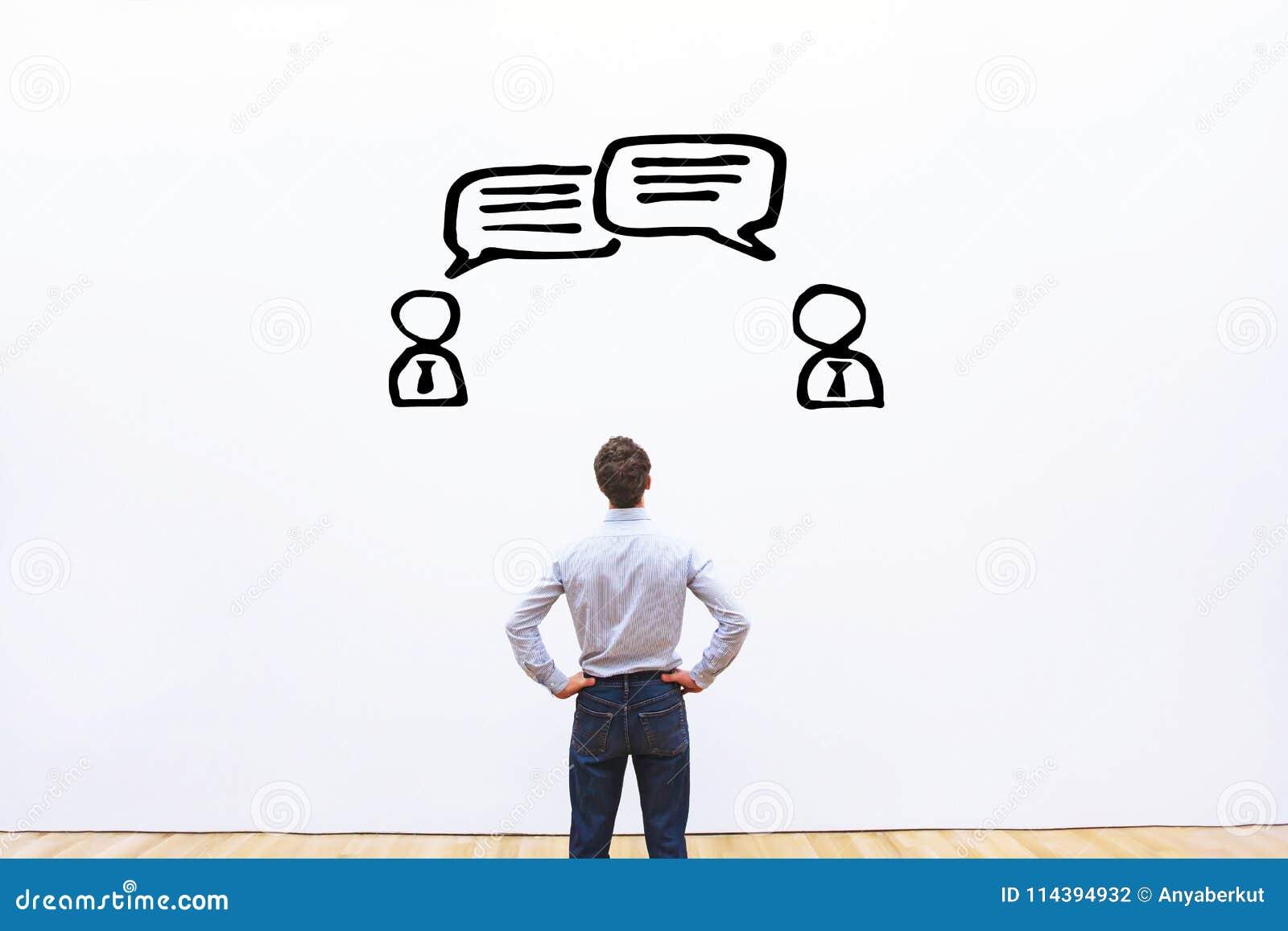 Negocjaci, dialog lub spora pojęcie,