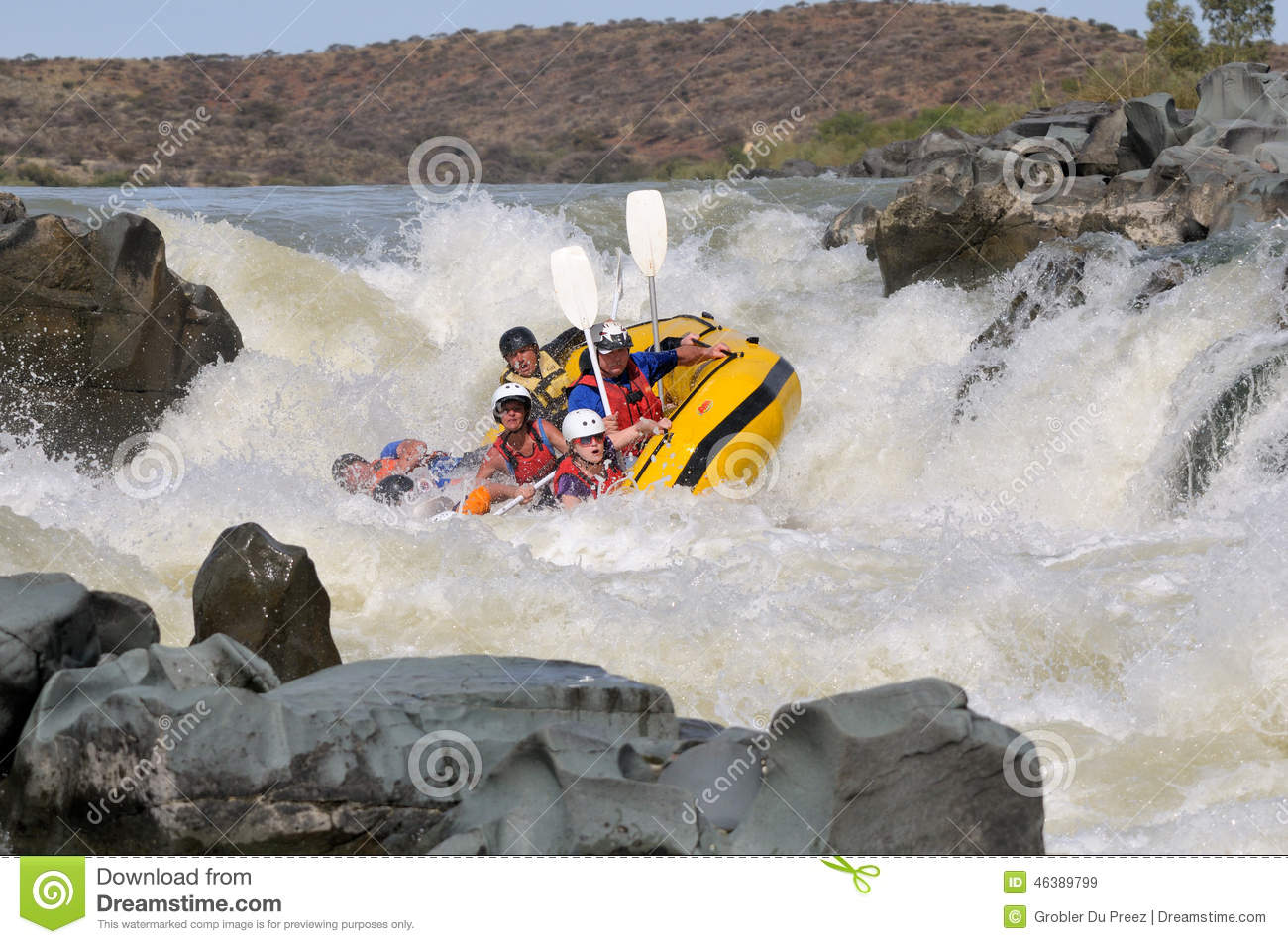 Negotiating Hell s Gate in the Gariep River (Orange River), Sout