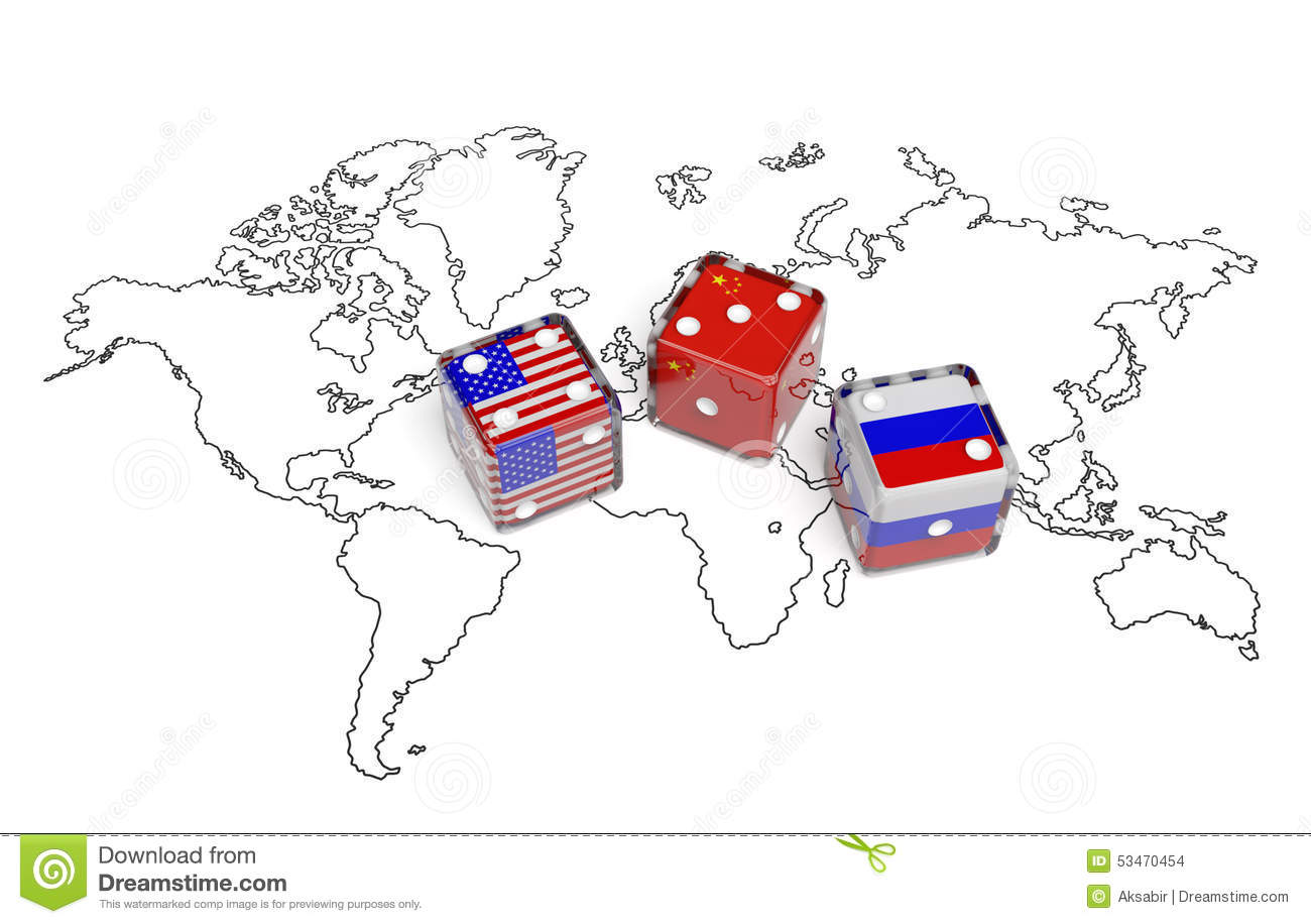 Negotiation dice usa china russia stock illustration illustration download comp gumiabroncs Choice Image