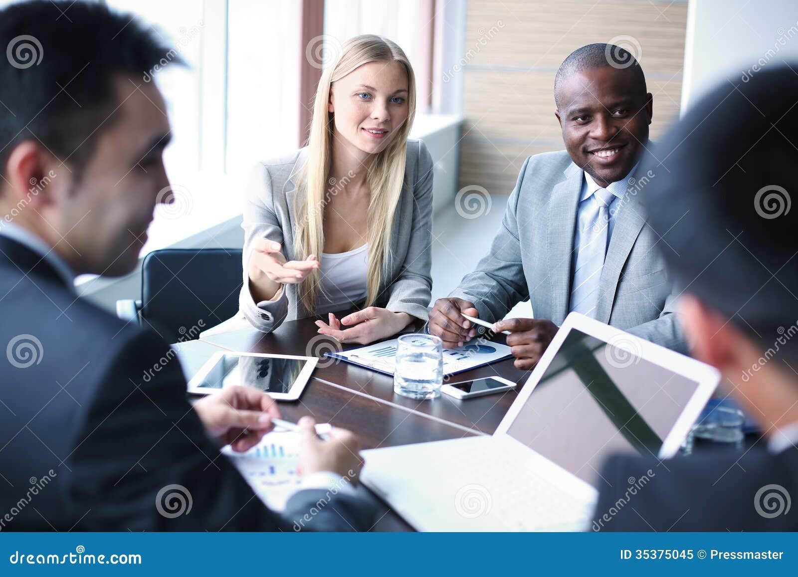 negotiation royalty free stock photo
