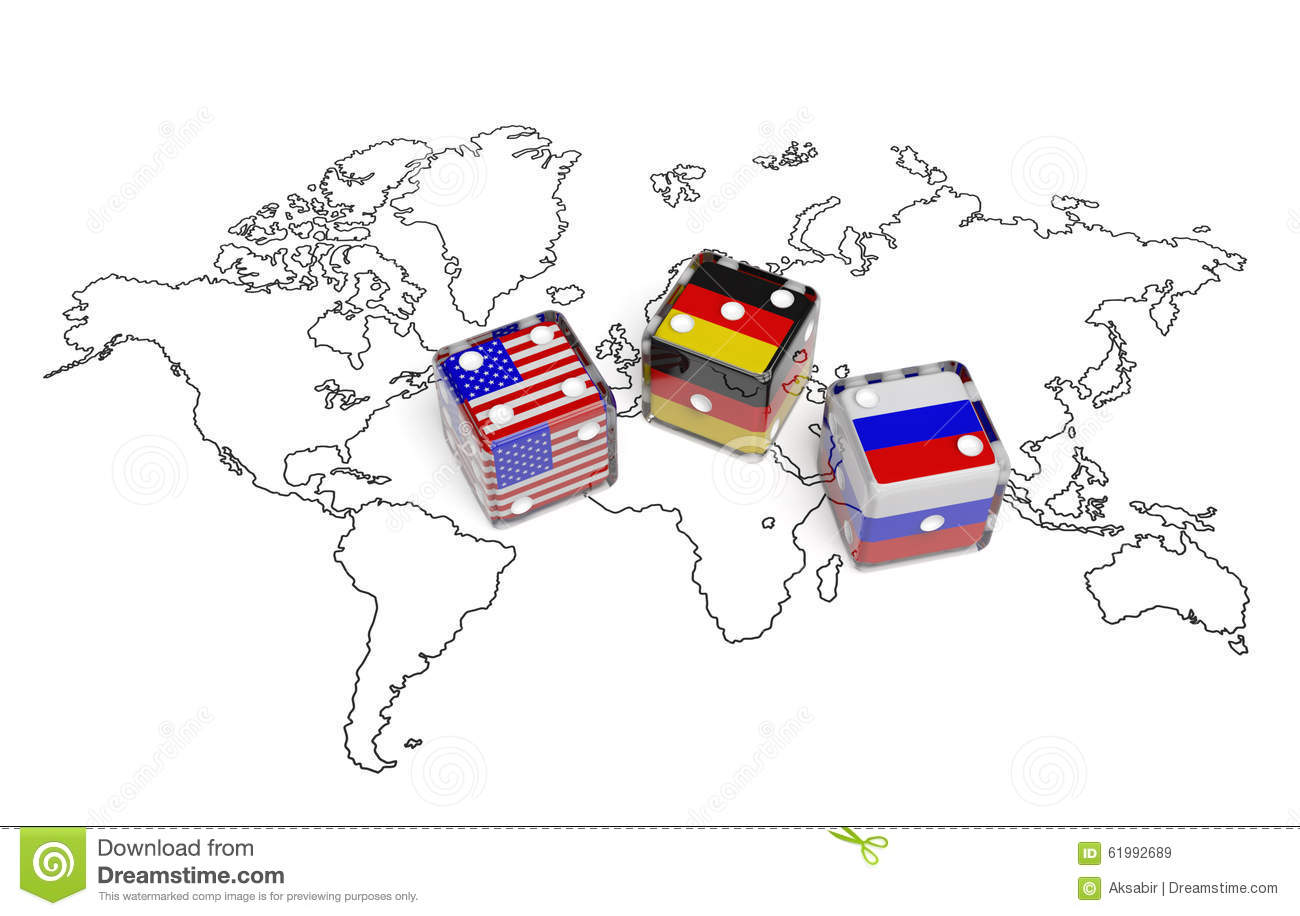 Negotiation between usa germany and russia stock illustration negotiation between usa germany and russia gumiabroncs Images