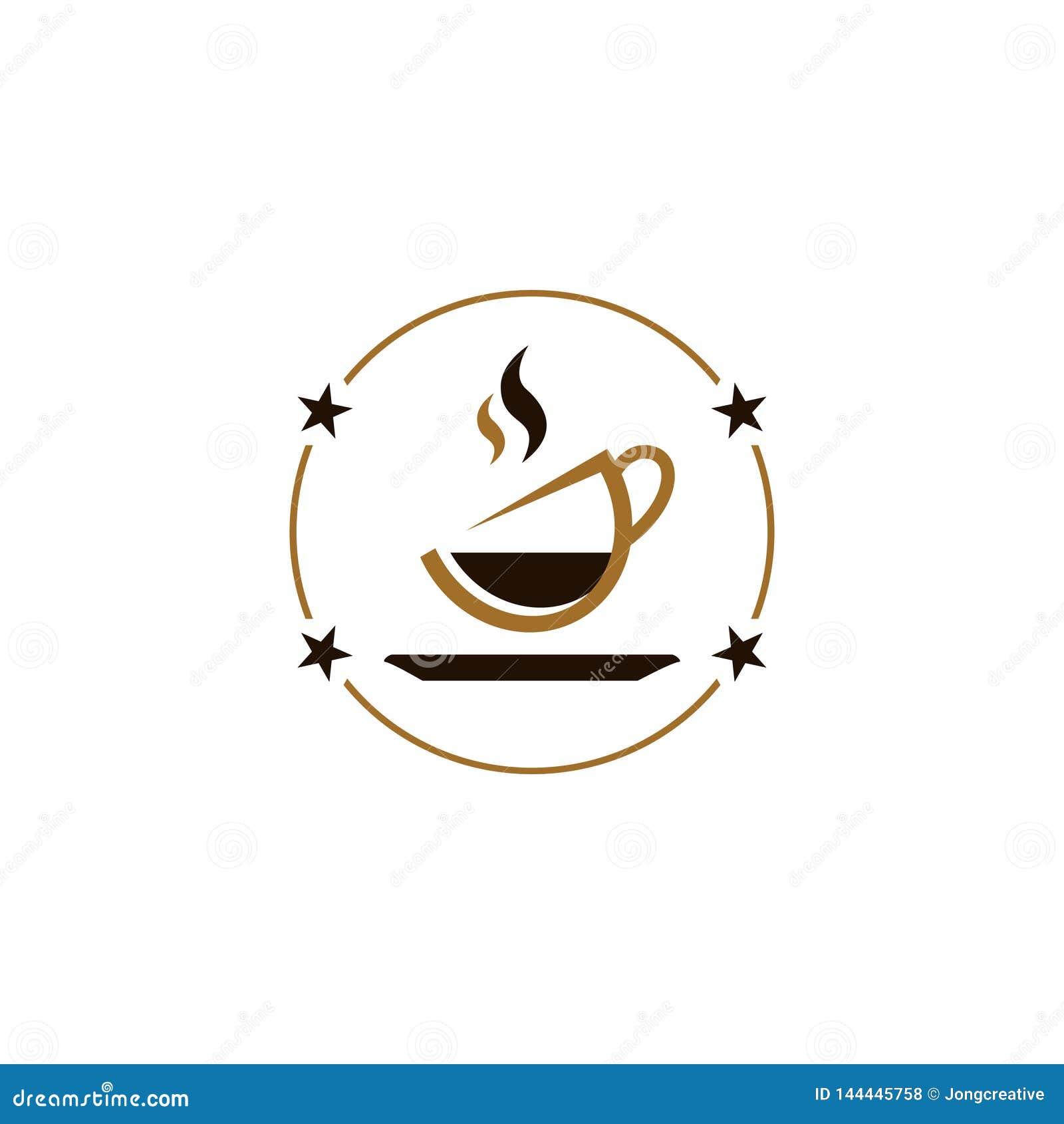 Negozio caldo del caffè del tè del cioccolato del caffè della bevanda della stella del cerchio