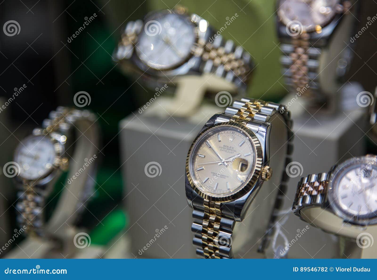 6a086de25eaefd Negozio Di Lusso Degli Orologi Di Rolex Fotografia Editoriale ...