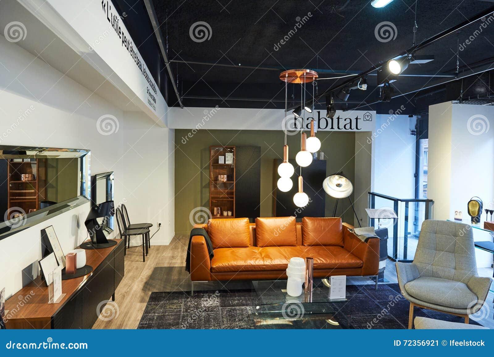 negozio di mobili dell 39 habitat fotografia editoriale