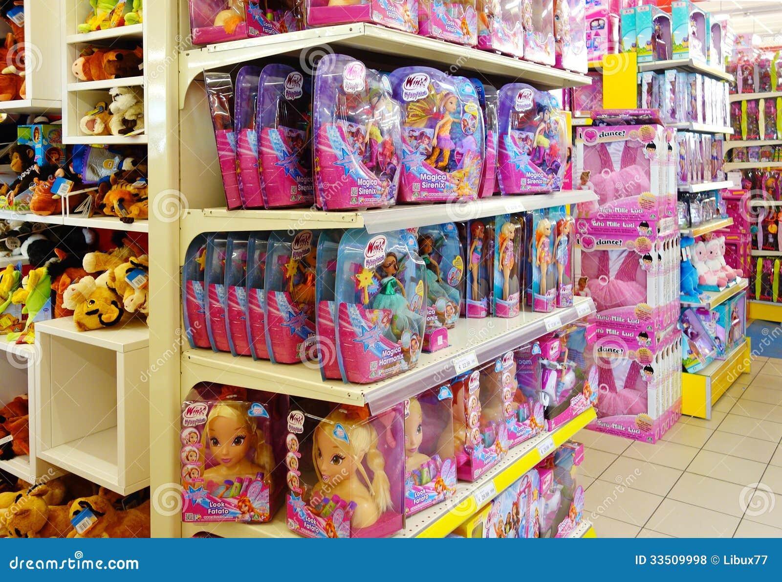 negozio interno dei giocattoli dei bambini fotografia