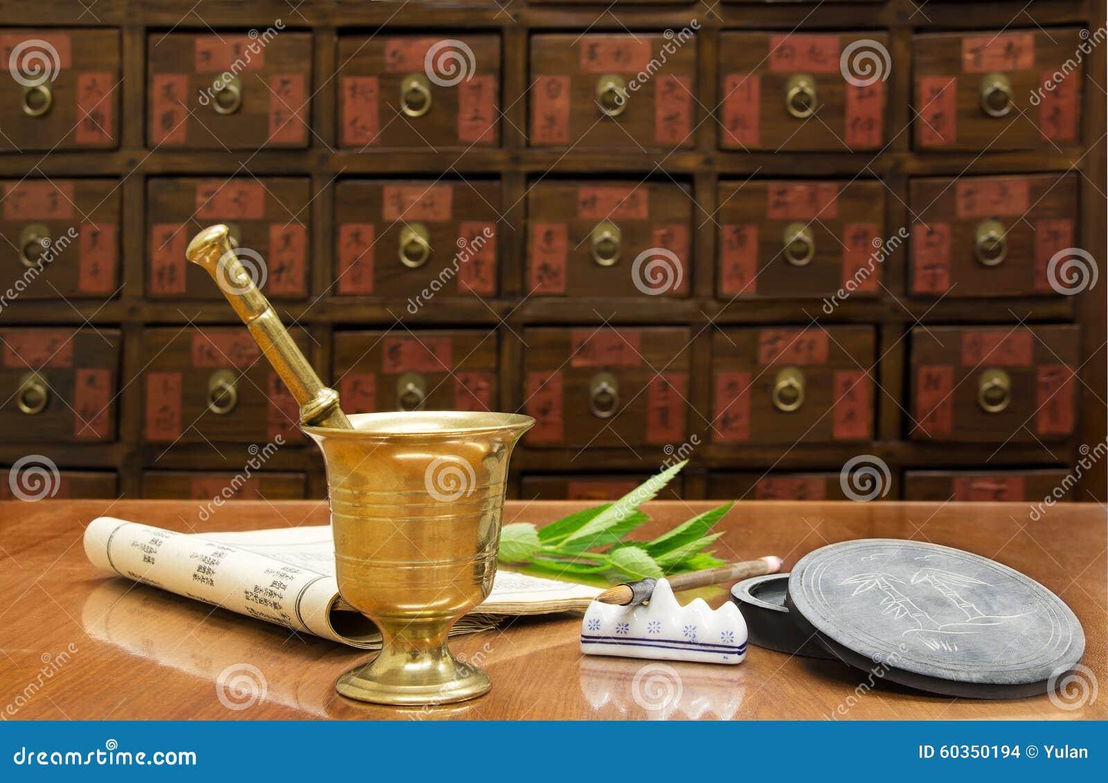 Negozio tradizionale della medicina cinese