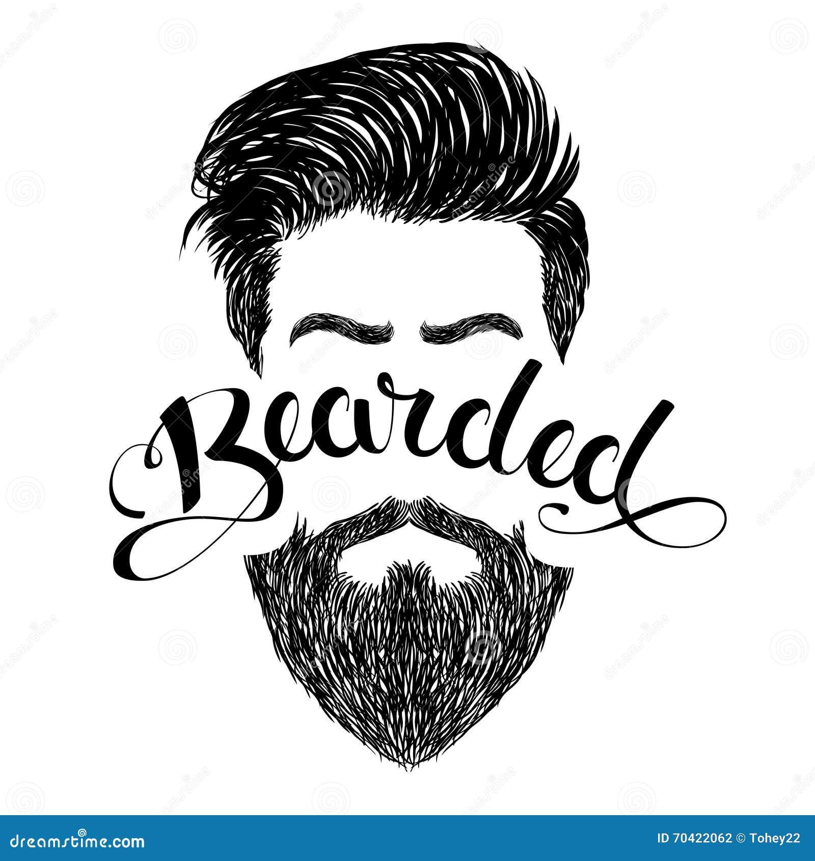 Negro barbudo del logotipo