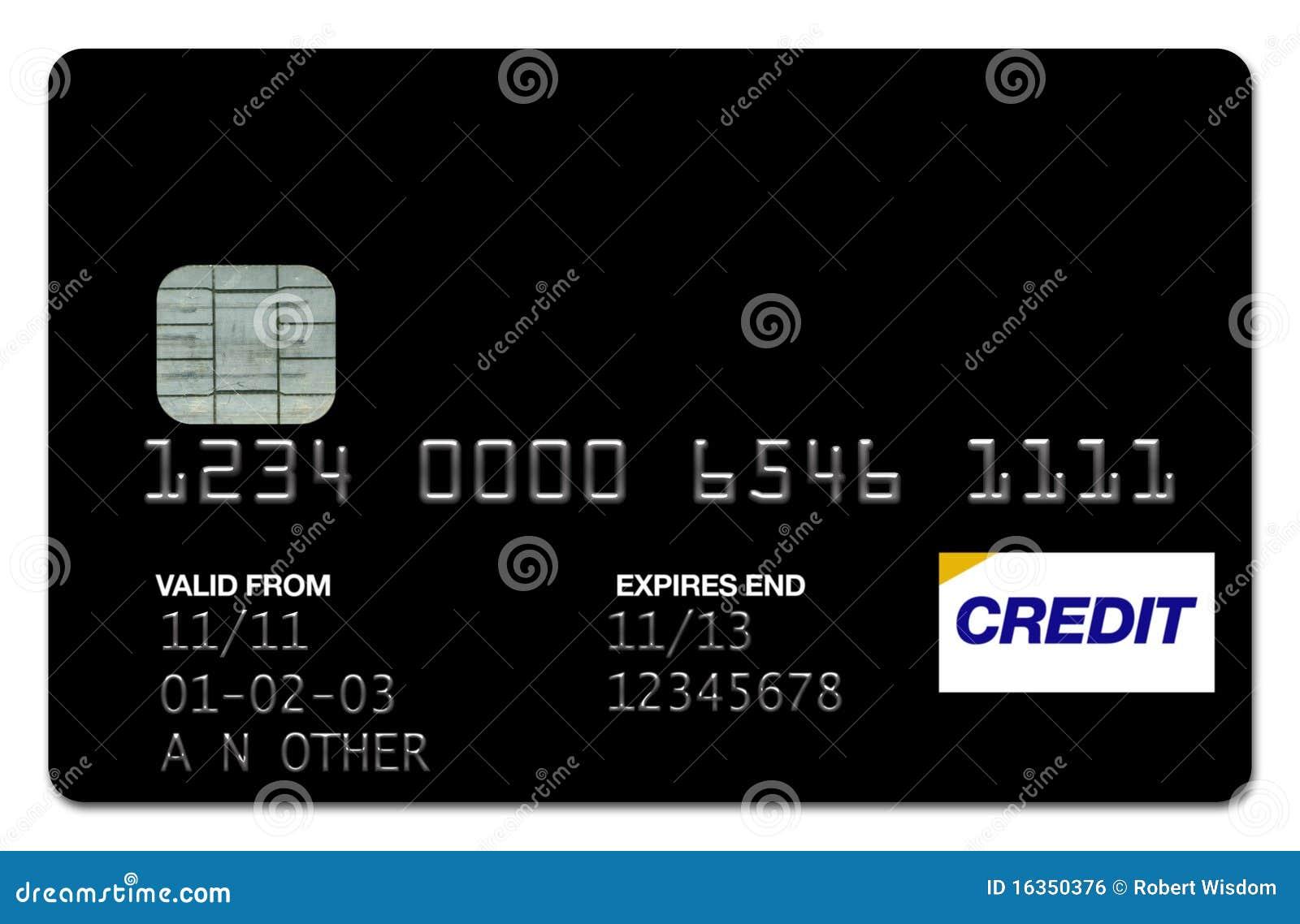 Negro de la tarjeta de crédito