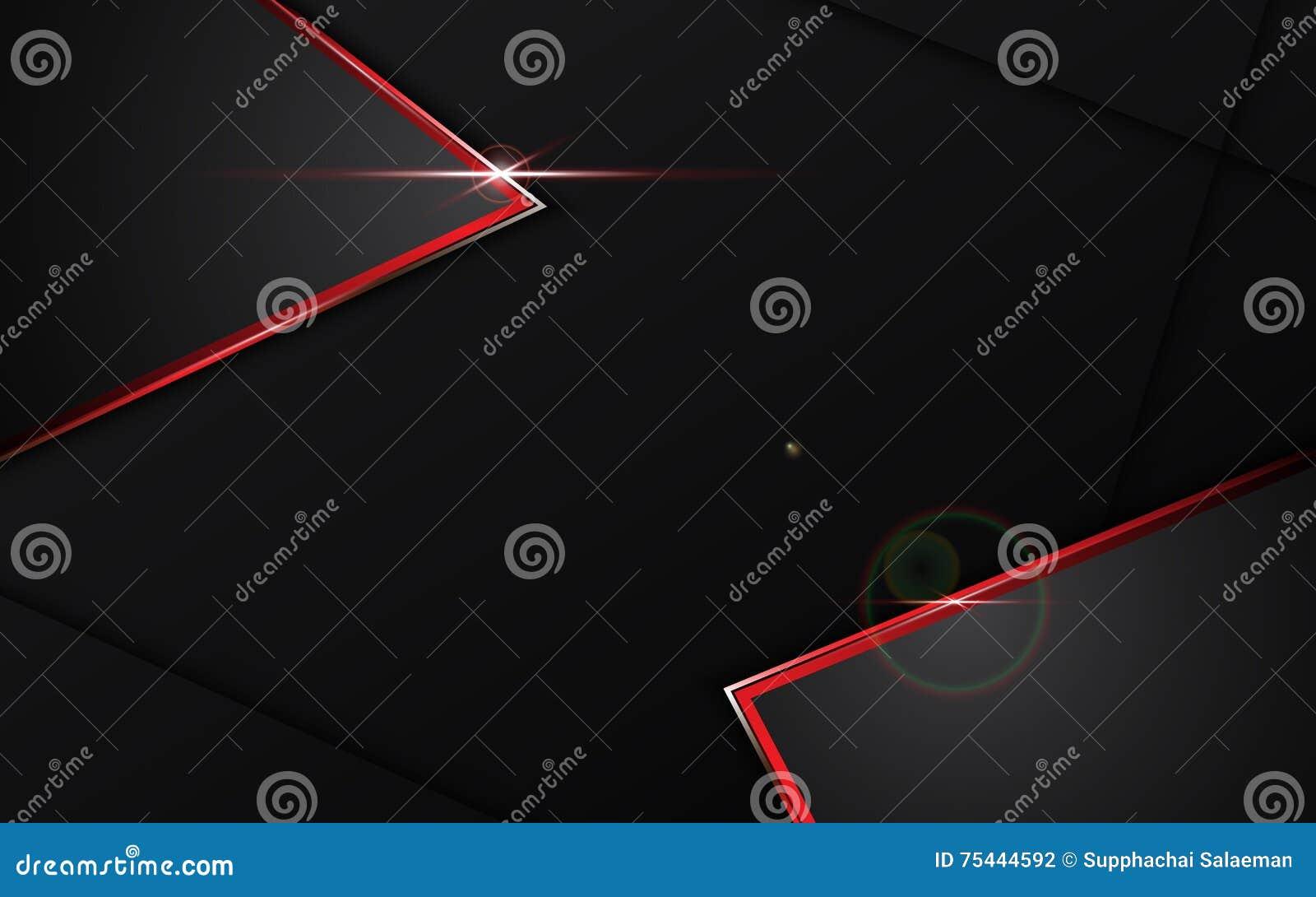 Negro del extracto con el fondo rojo del concepto de la tecnología del diseño de la disposición de la plantilla del marco