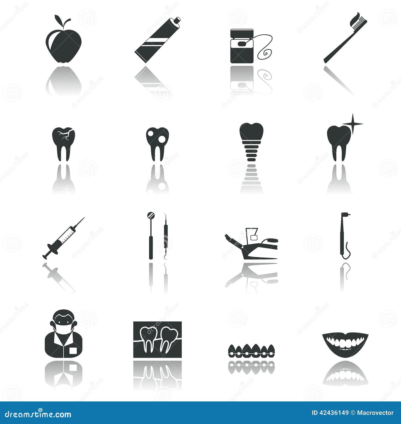 Negro dental de los iconos