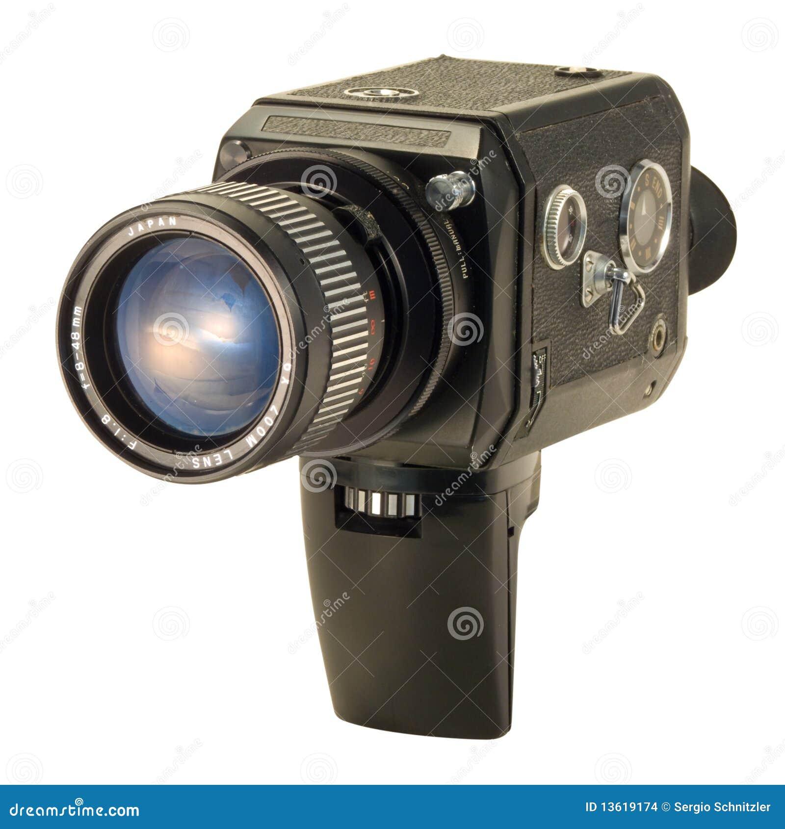 Negro estupendo de la cámara de 8 películas
