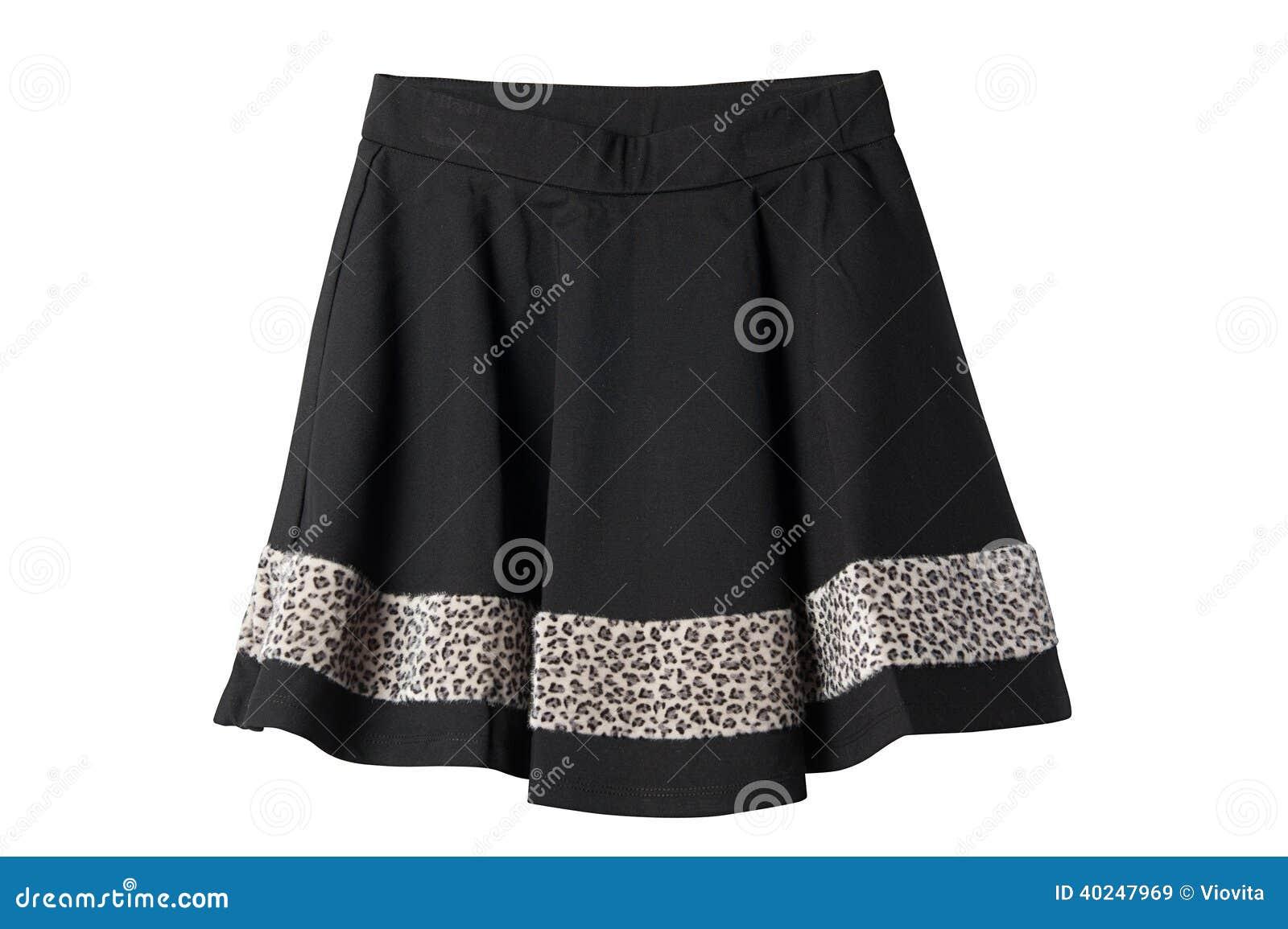 Negro y falda del leopardo