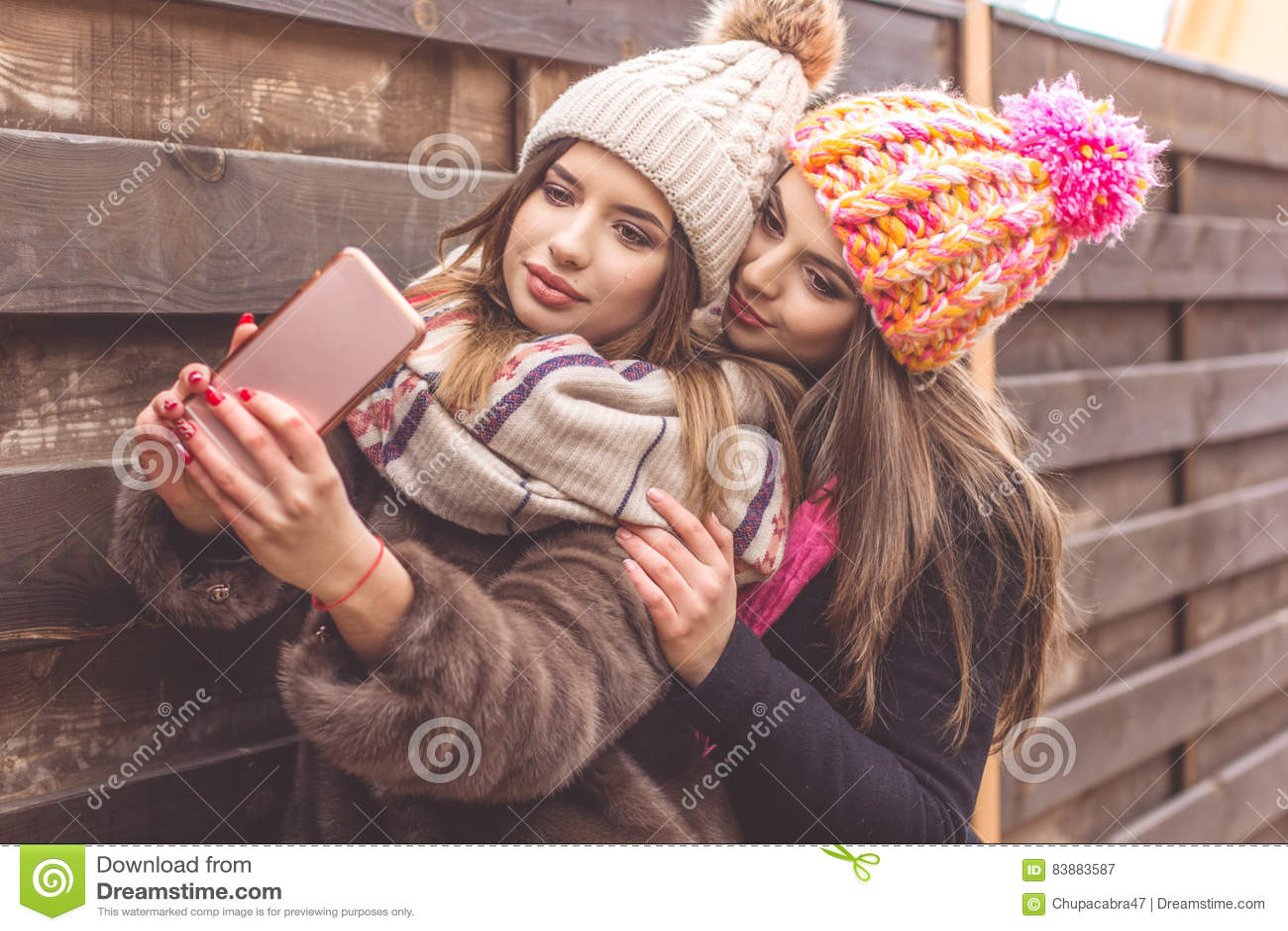 Hübsches mädchen selfie