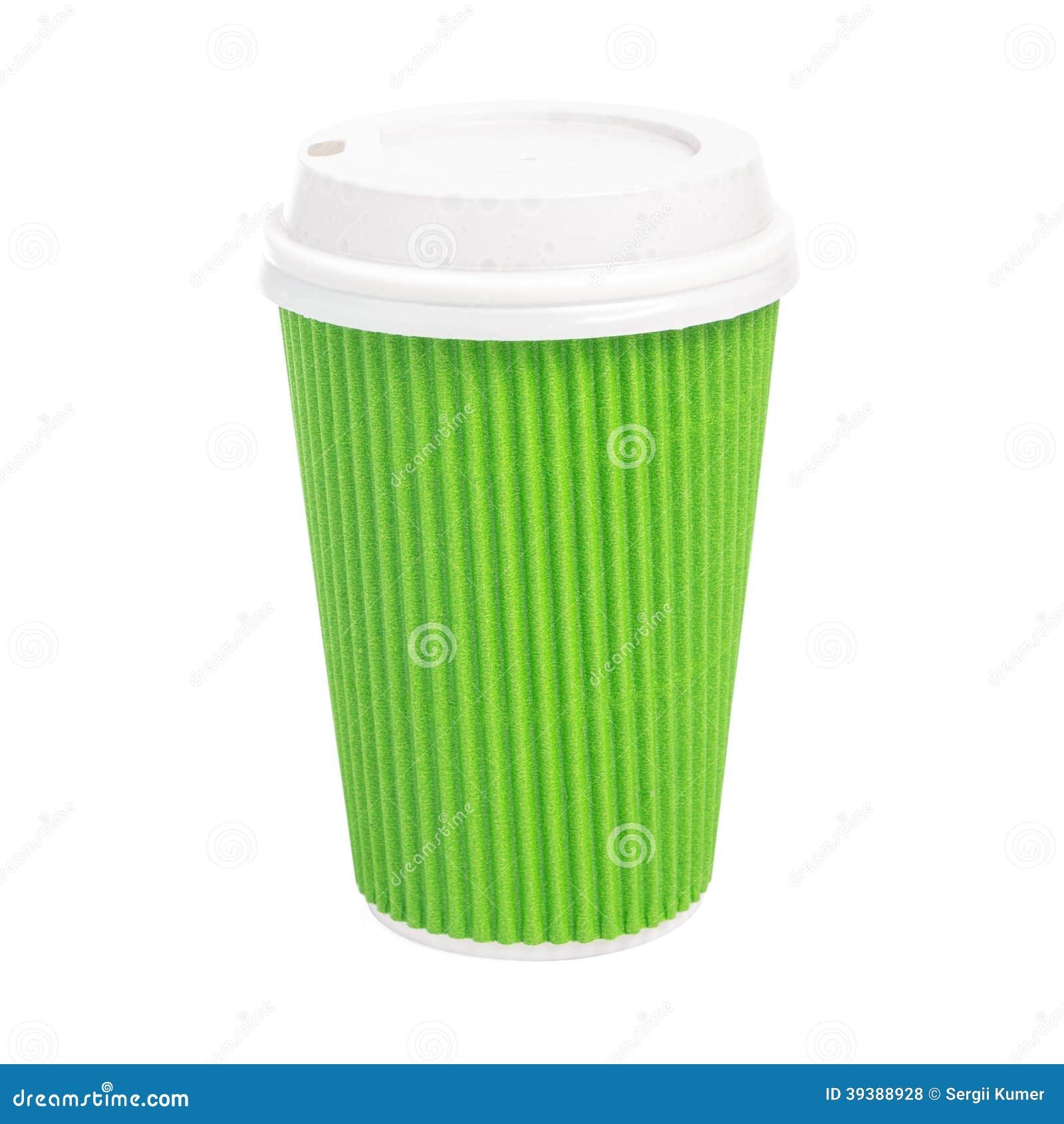 Nehmen Sie die Tasse Tee lokalisiert auf weißem Hintergrund heraus