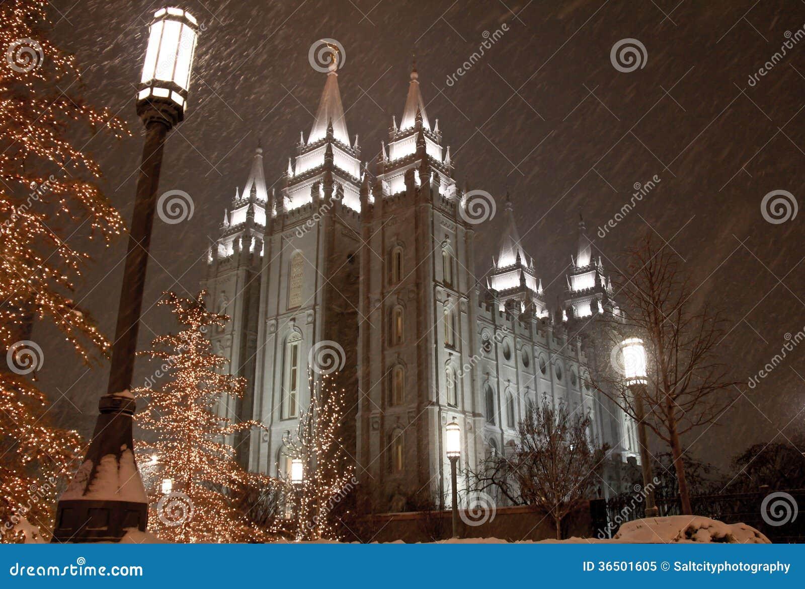 Neige tombant à Salt Lake City
