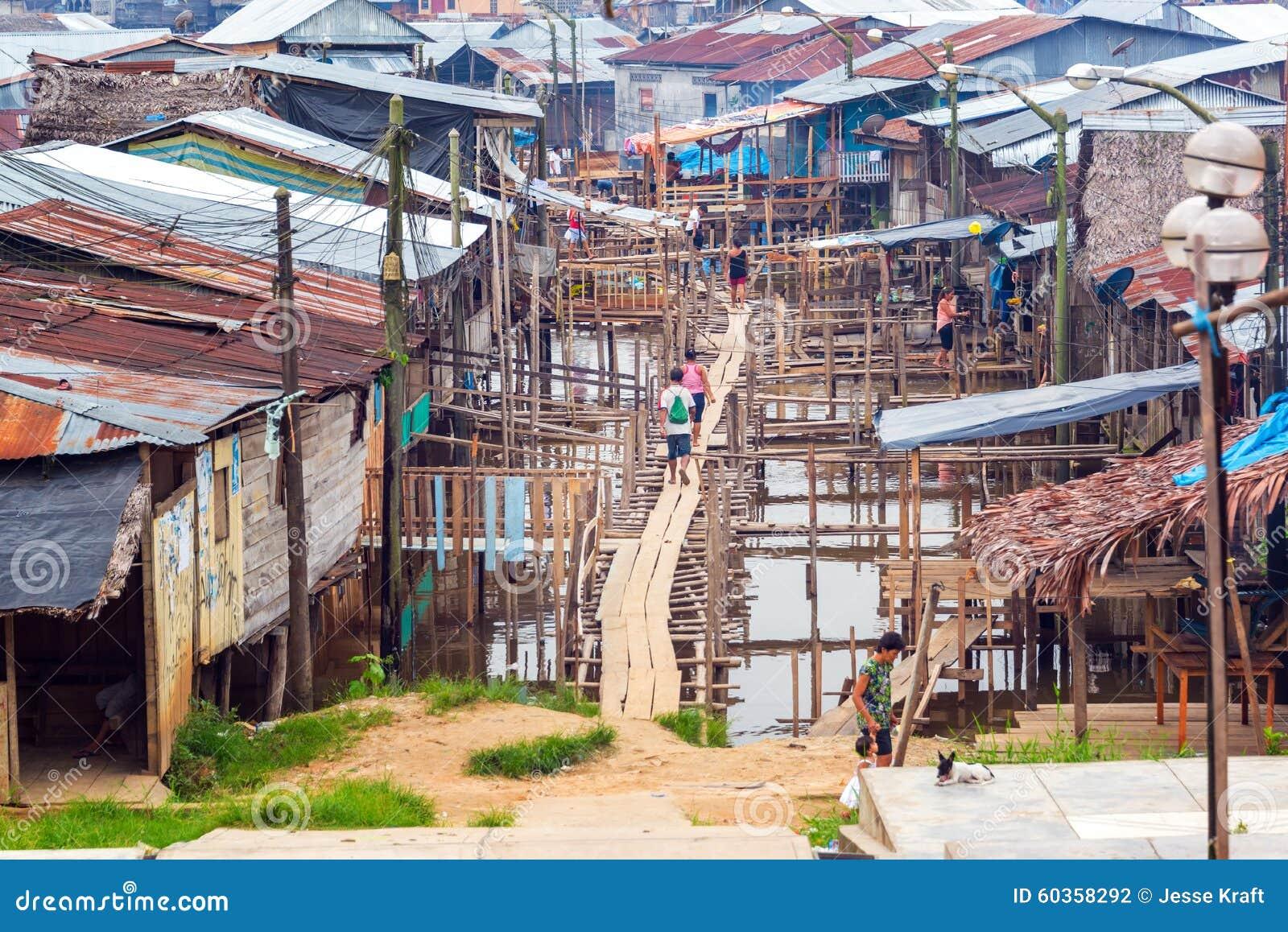 Neighborhood of Belen in Iquitos, Peru