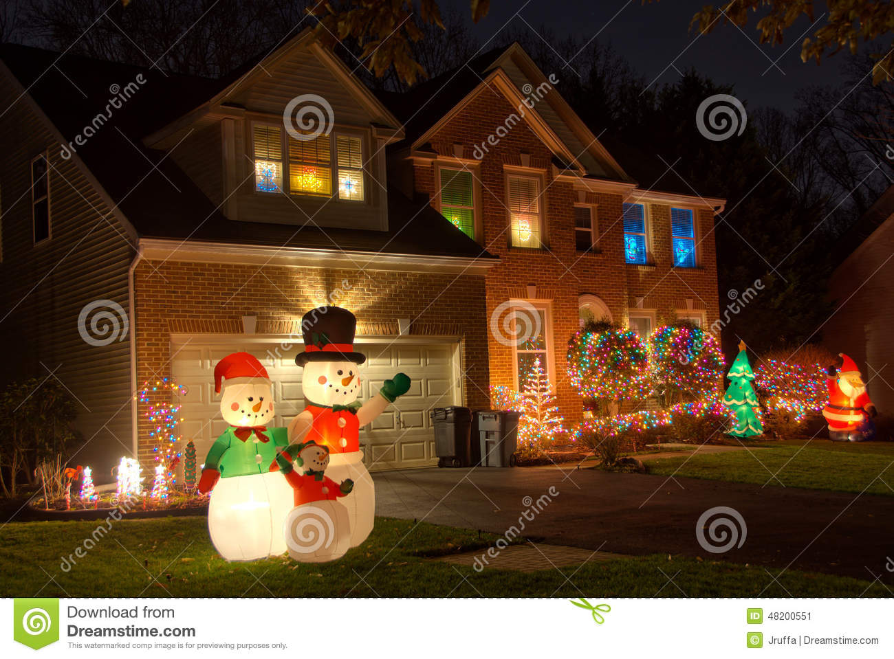 Christmas Decorations For Neighborhood Entrances : Neighborhood christmas decorations stock photo image