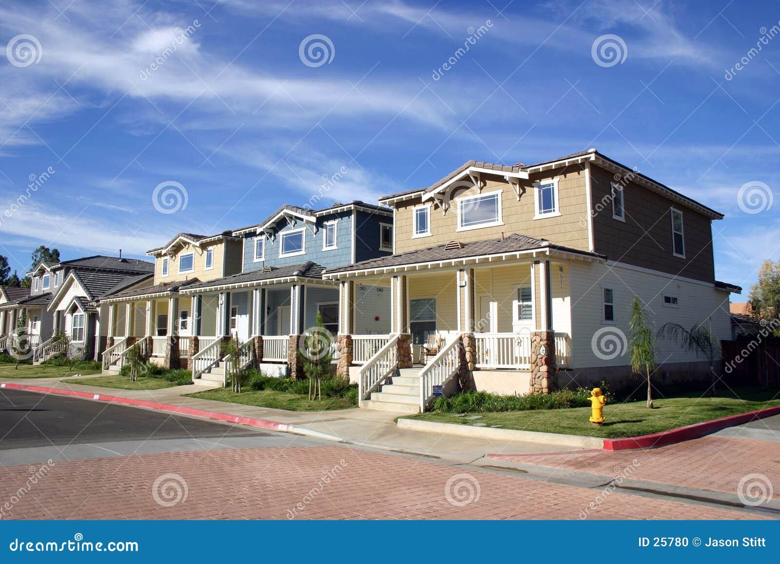 Neighborhood Houses Stock Photo - Image: 25780