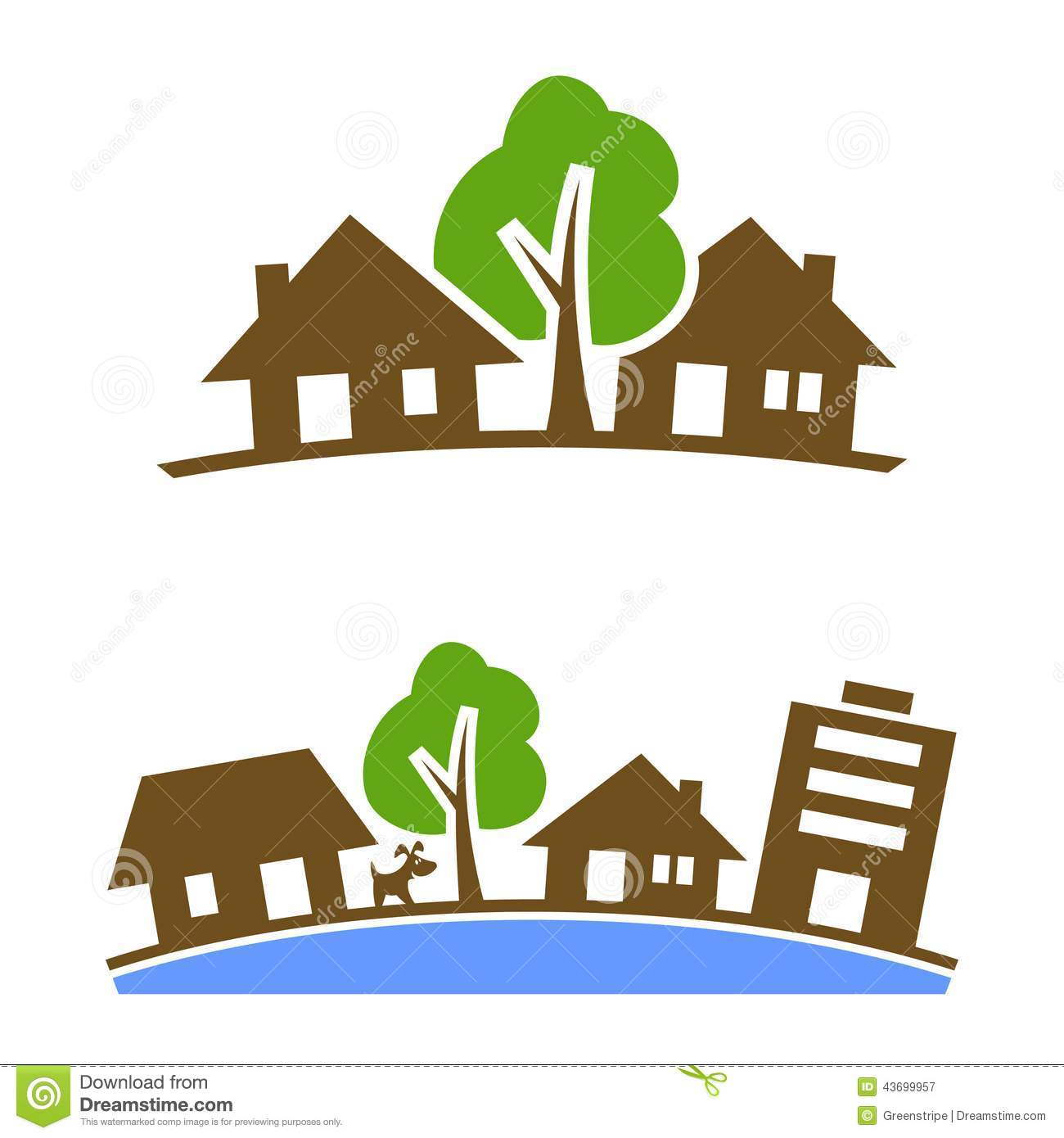 Country houses, Silhouette and House vector on Pinterest