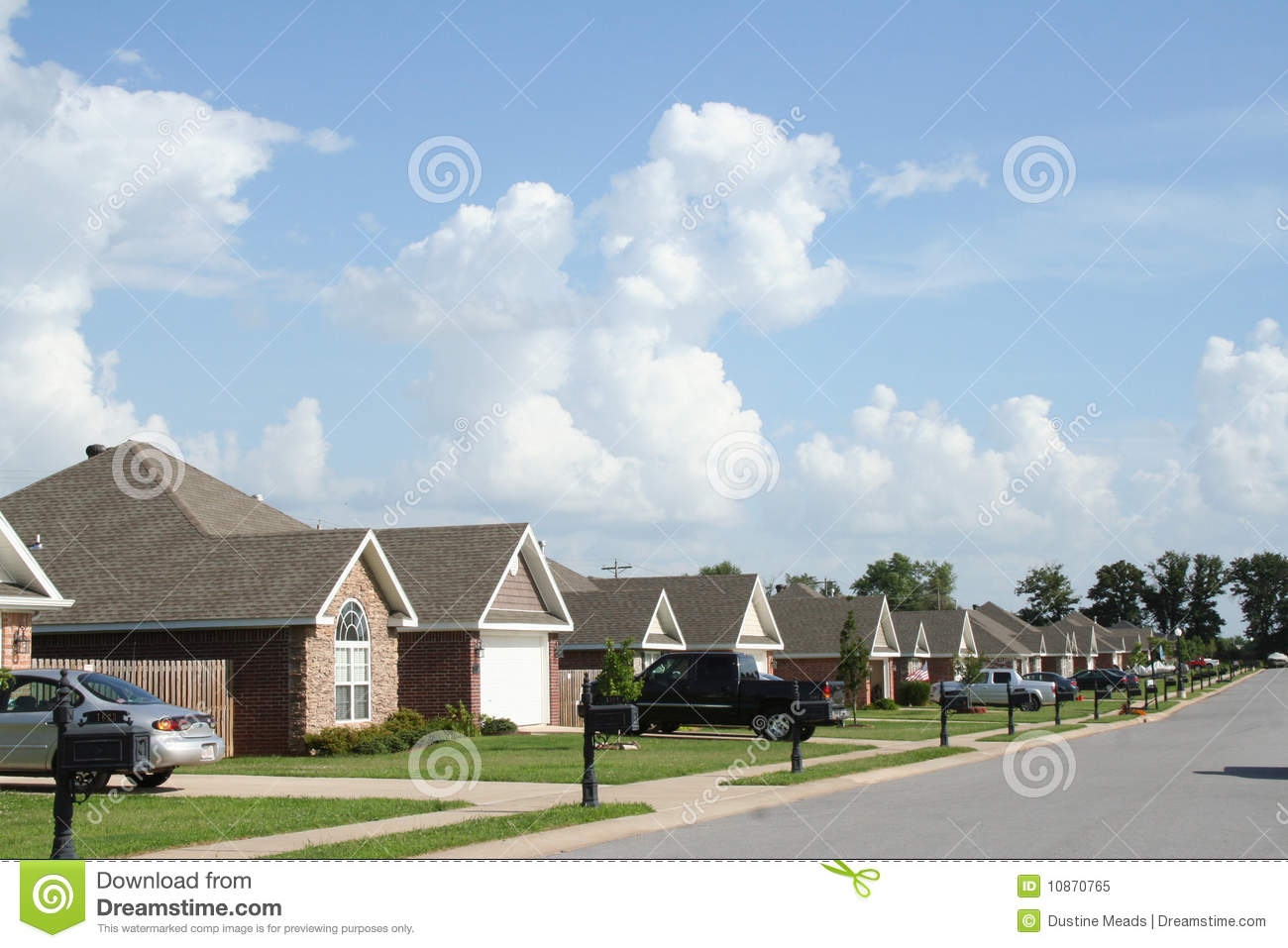 The neighborhood modern subdivision homes royalty free