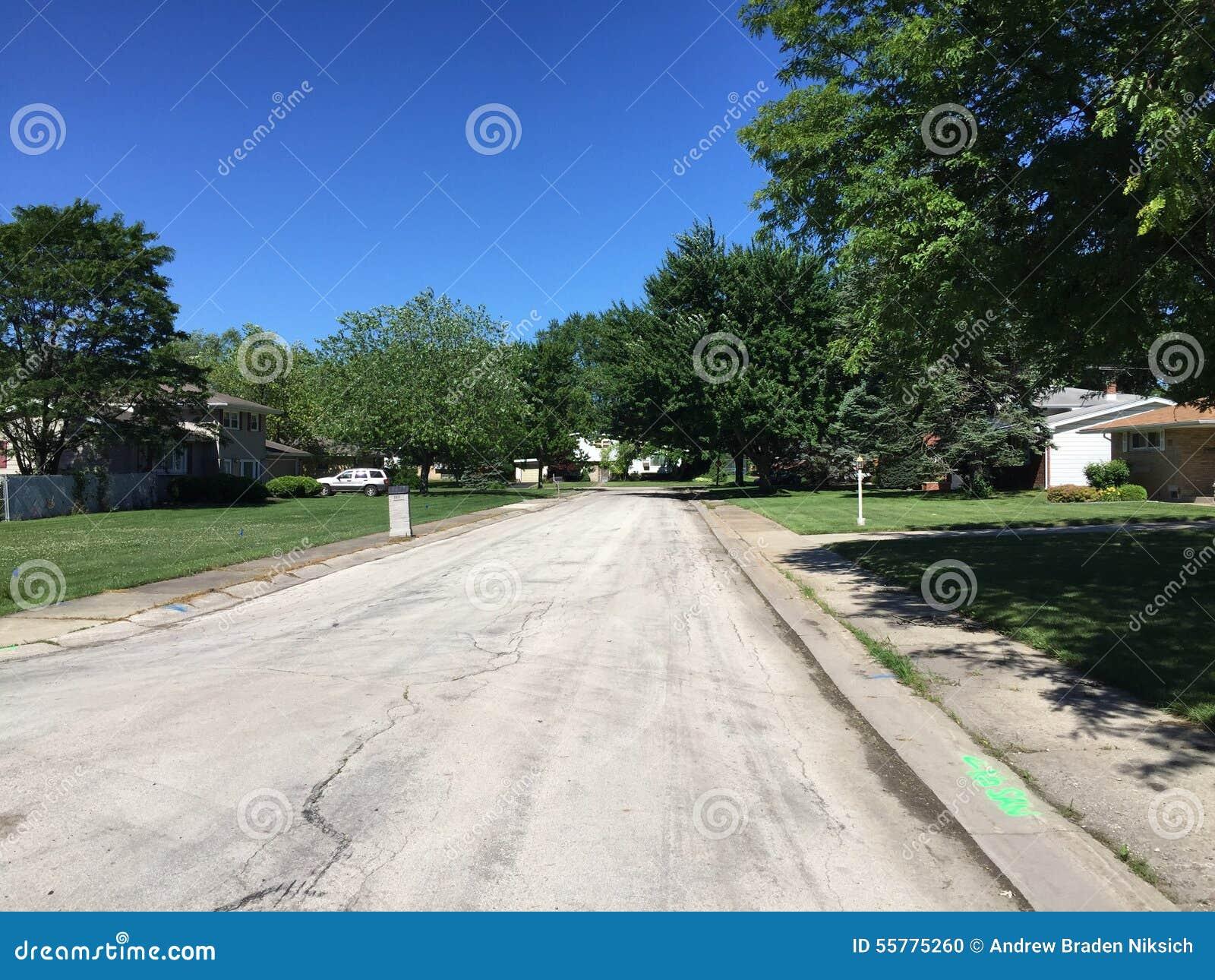 Neighborhood Stock Photo - Image: 55775260