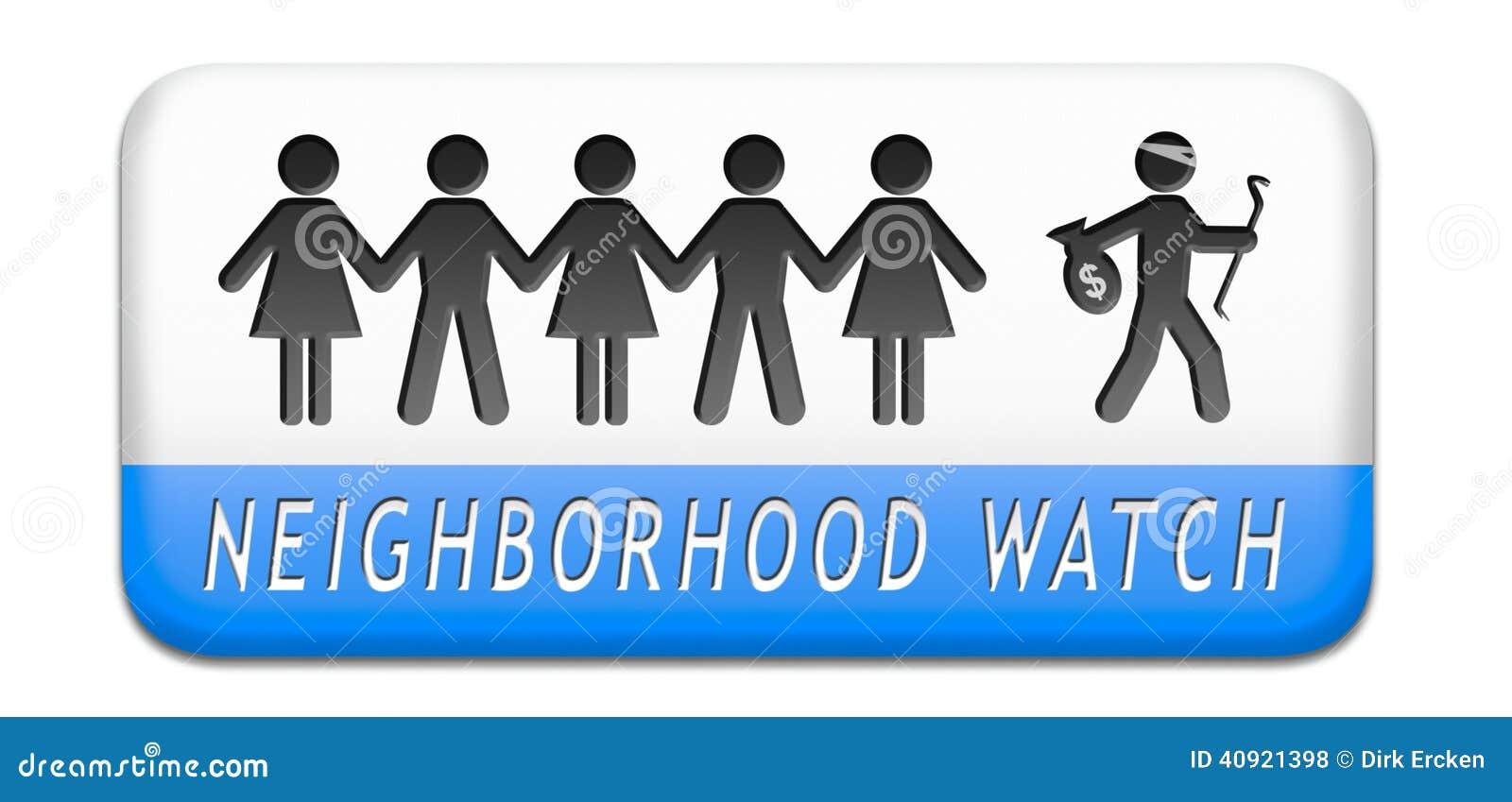 Id Theft Protection >> Neighborhood Watch Stock Illustration - Image: 40921398